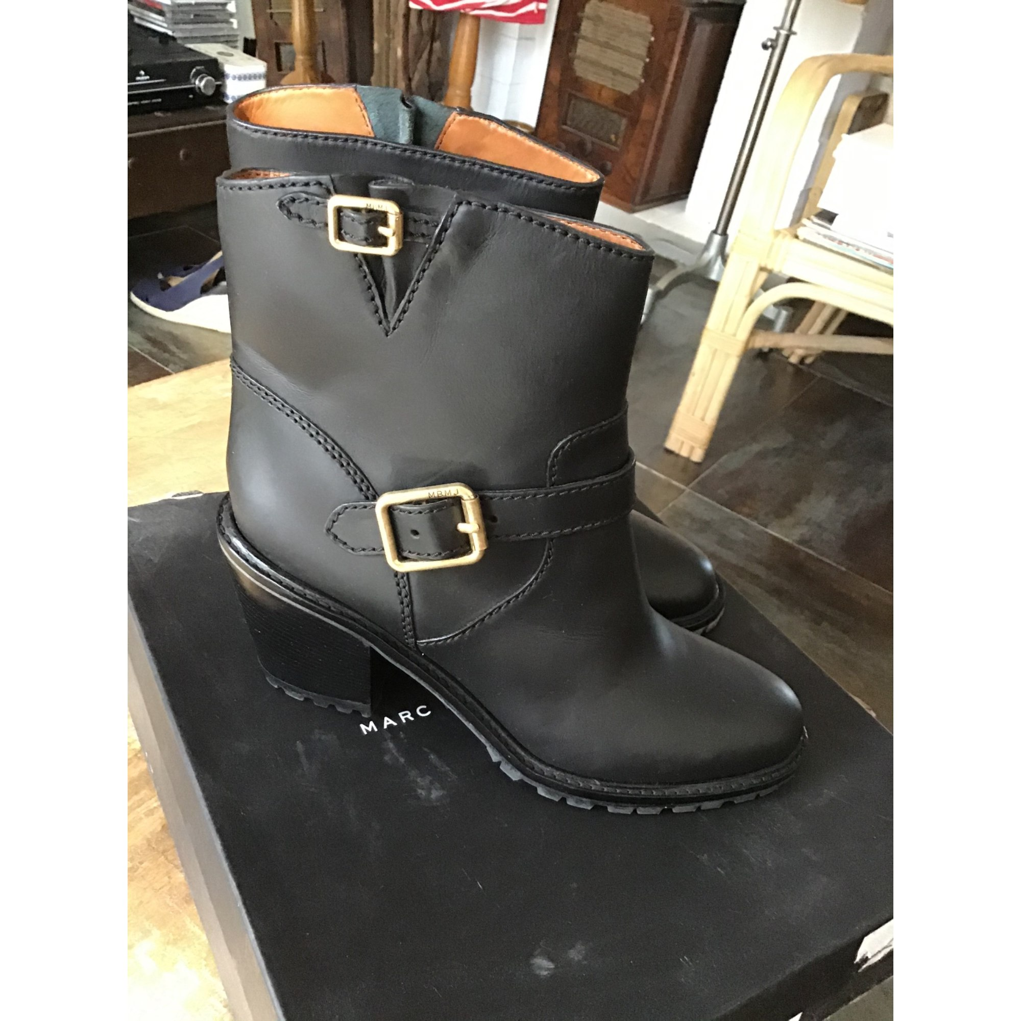 Bottines & low boots à talons MARC JACOBS Noir