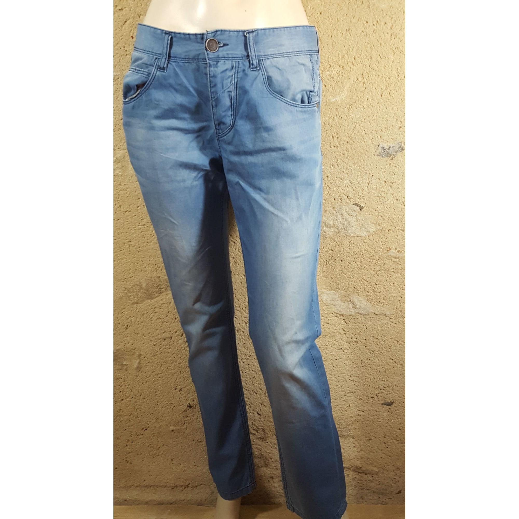 Jeans droit BONOBO Bleu, bleu marine, bleu turquoise