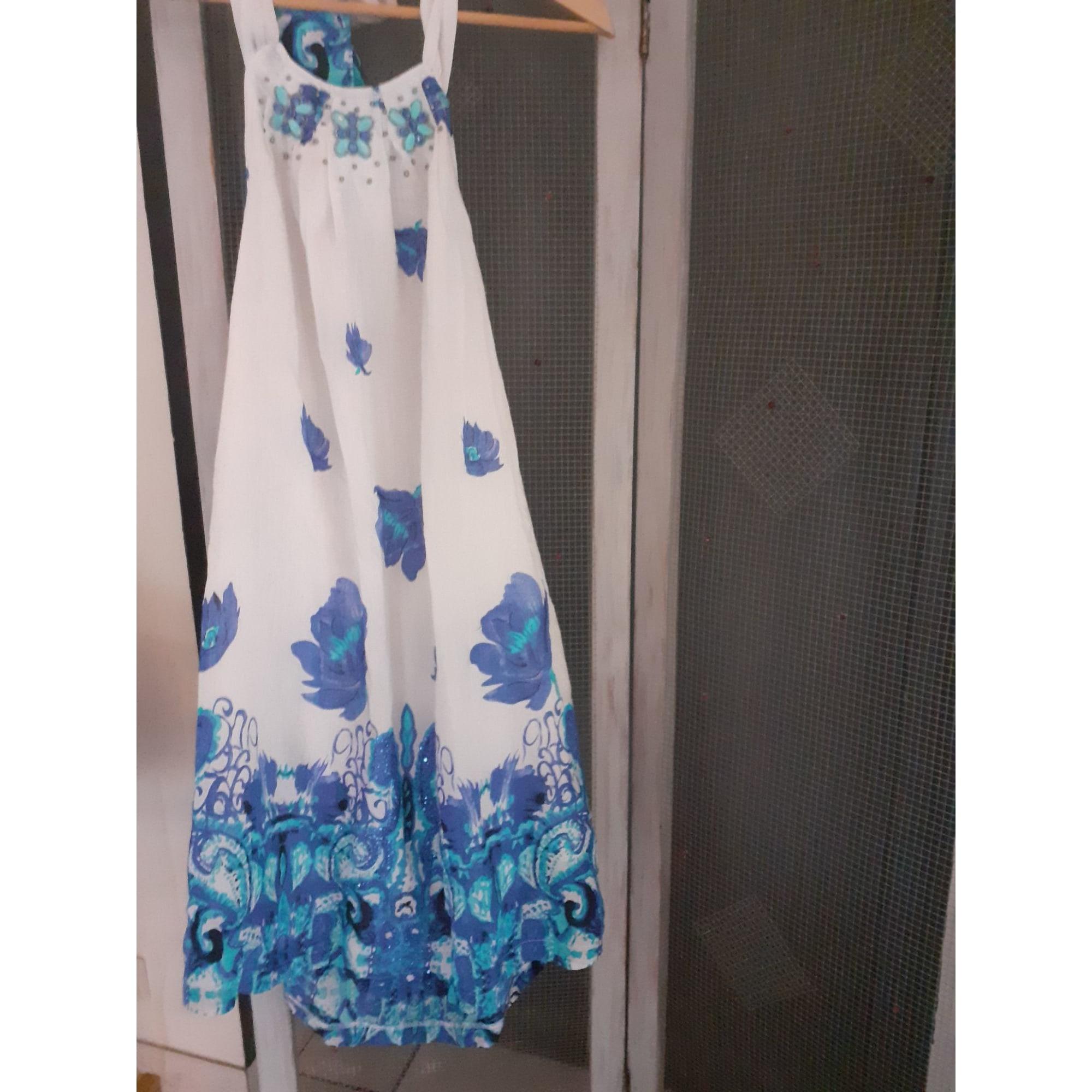 Robe dos nu MARQUE INCONNUE Bleu, bleu marine, bleu turquoise