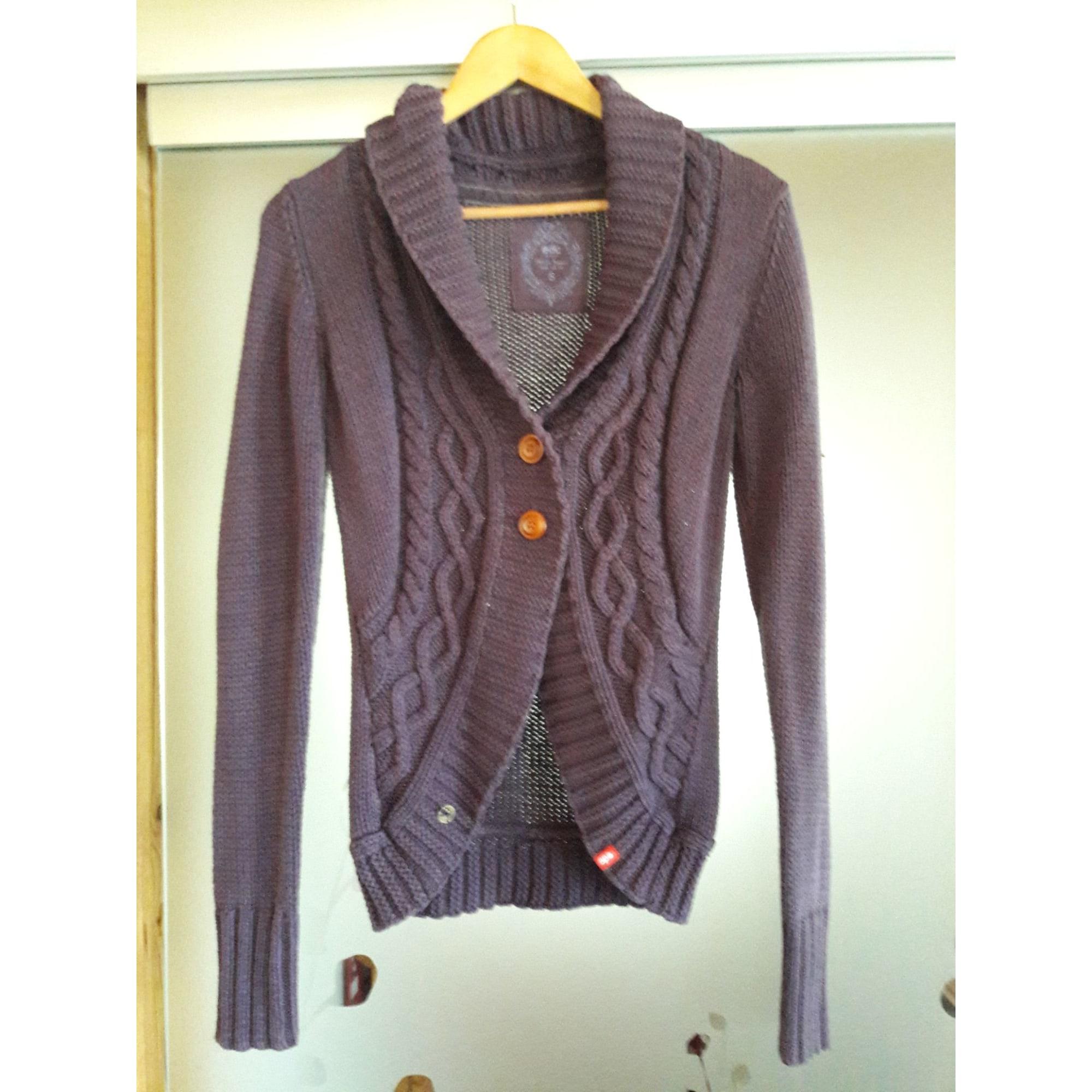 Gilet, cardigan ESPRIT Violet, mauve, lavande