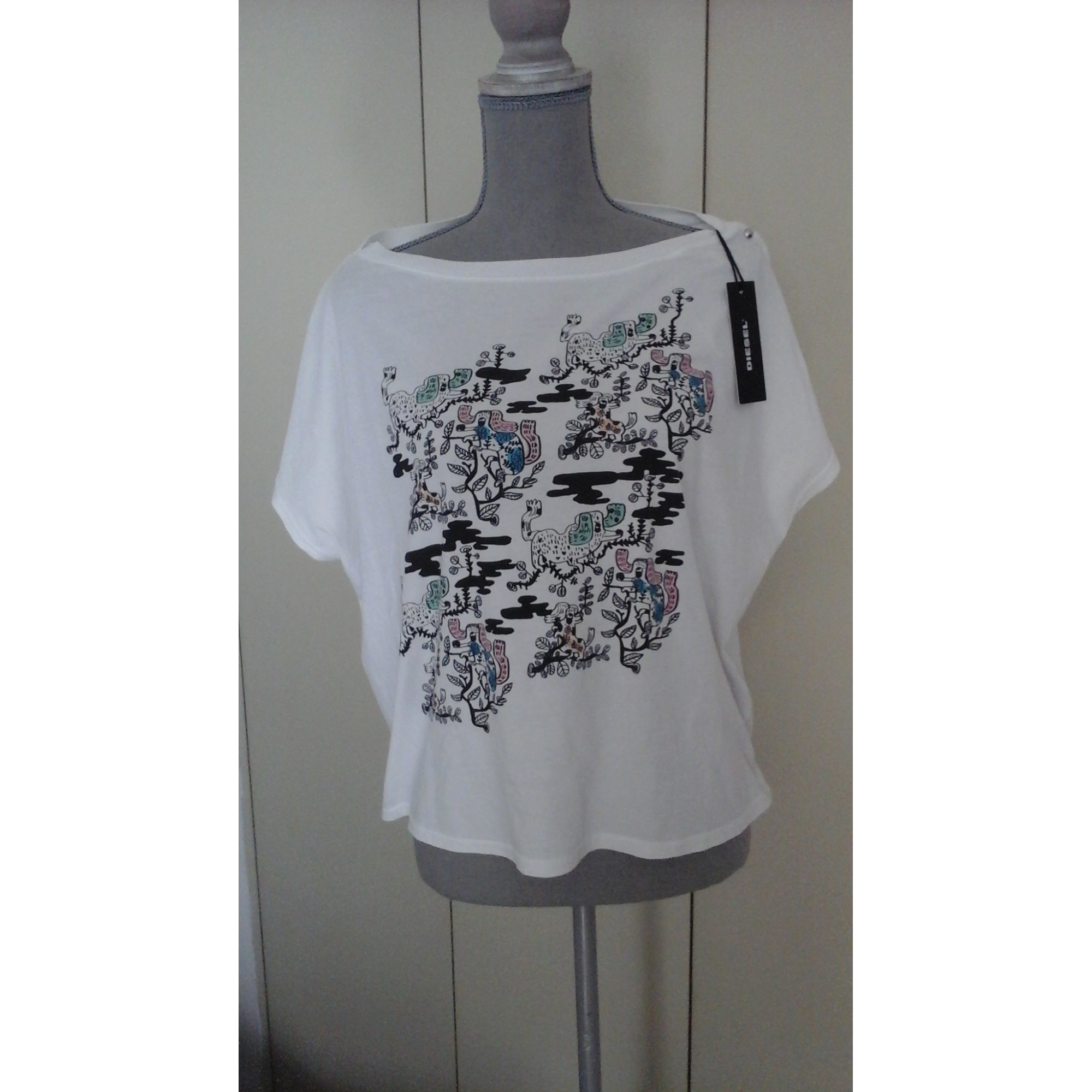Top, tee-shirt DIESEL Blanc, blanc cassé, écru
