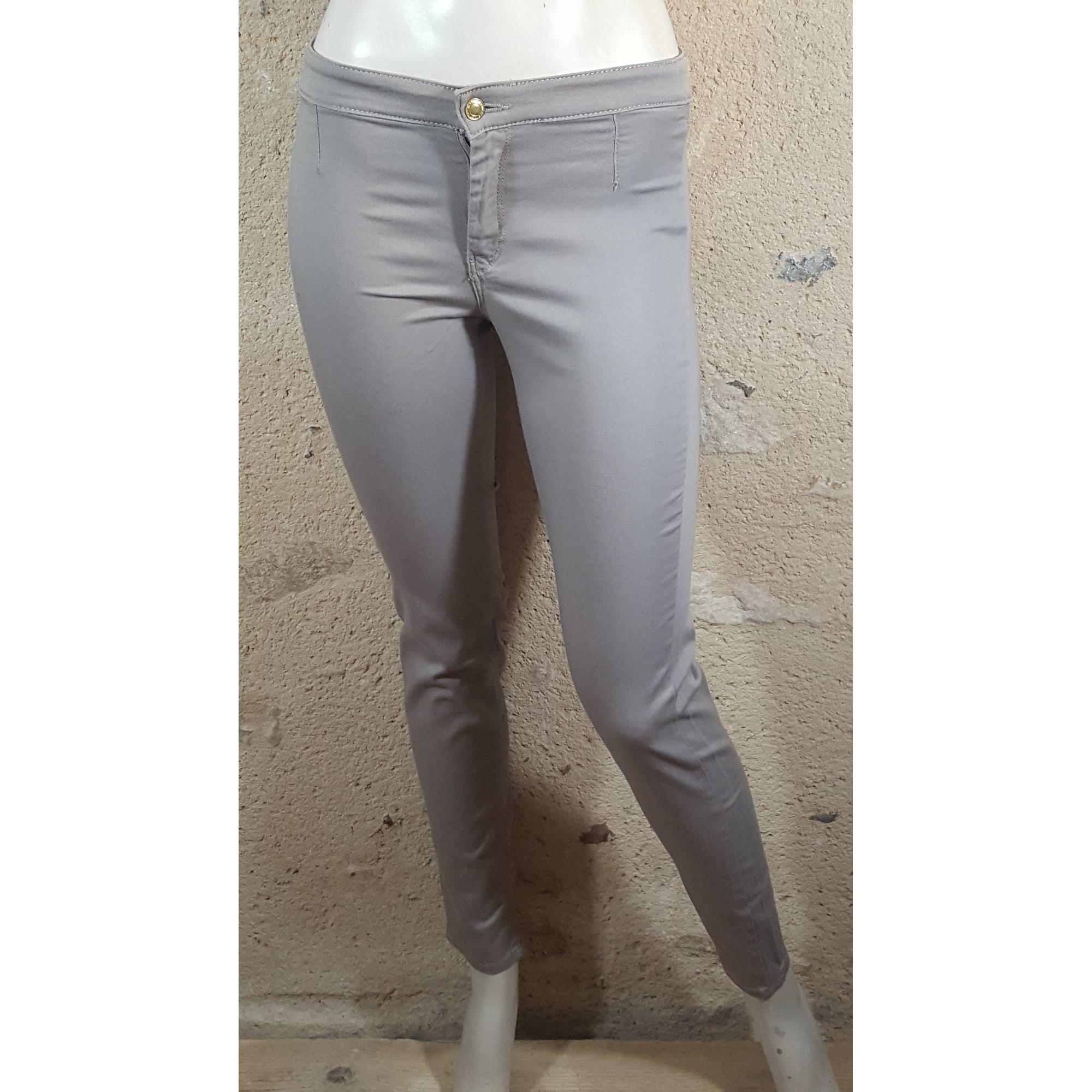 Jeans droit H&M Gris, anthracite