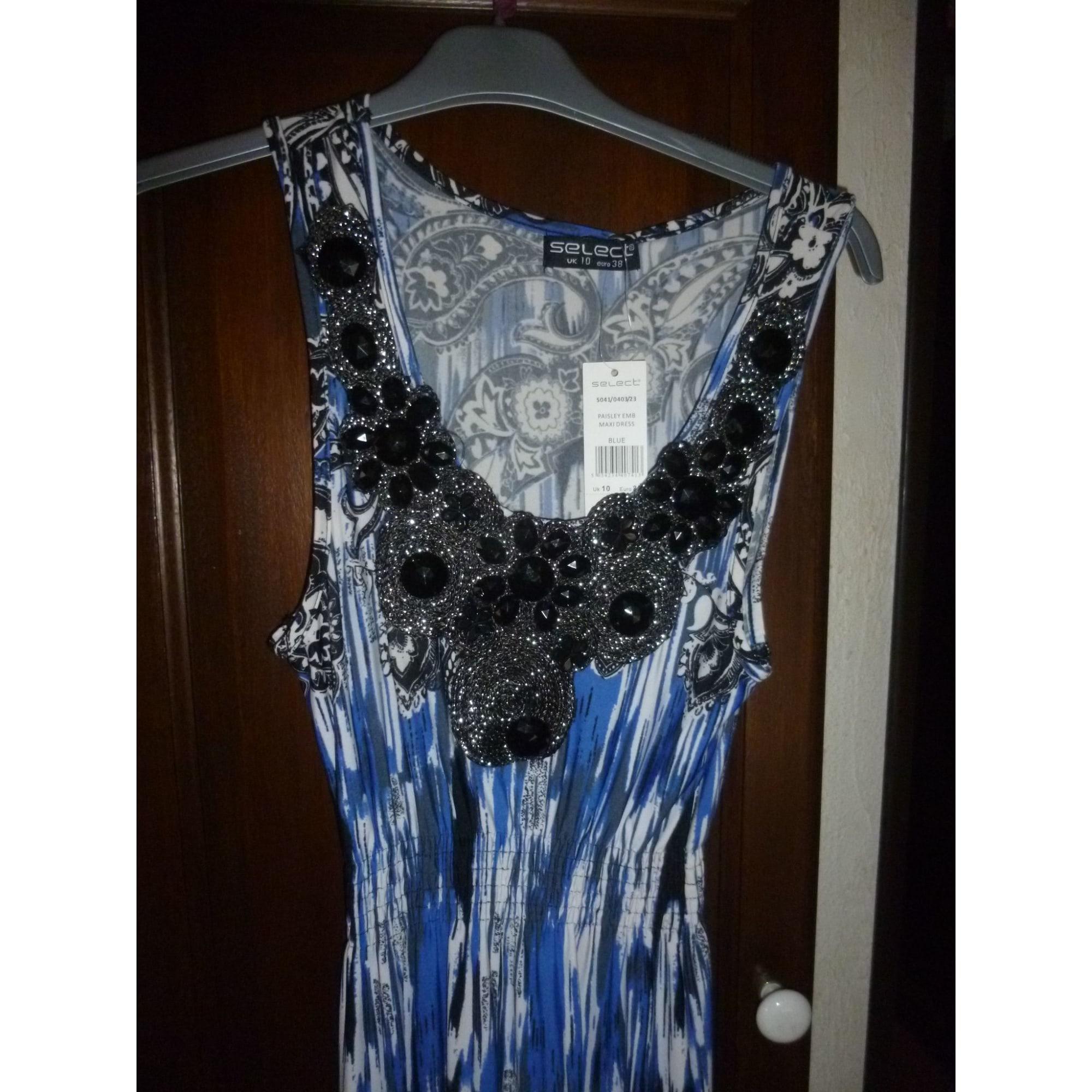 Robe longue SELECT Bleu, bleu marine, bleu turquoise
