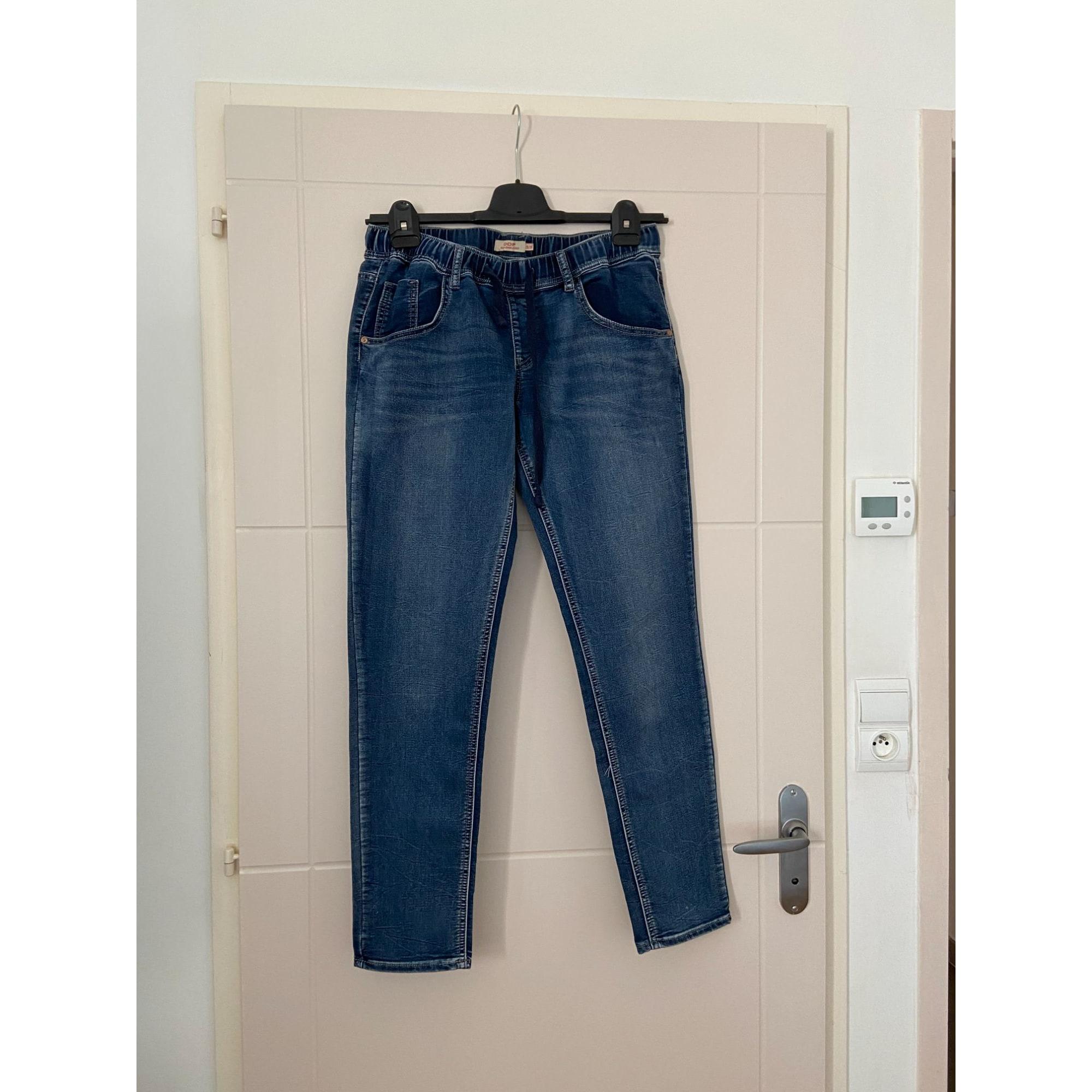 Jeans droit DDP Bleu, bleu marine, bleu turquoise