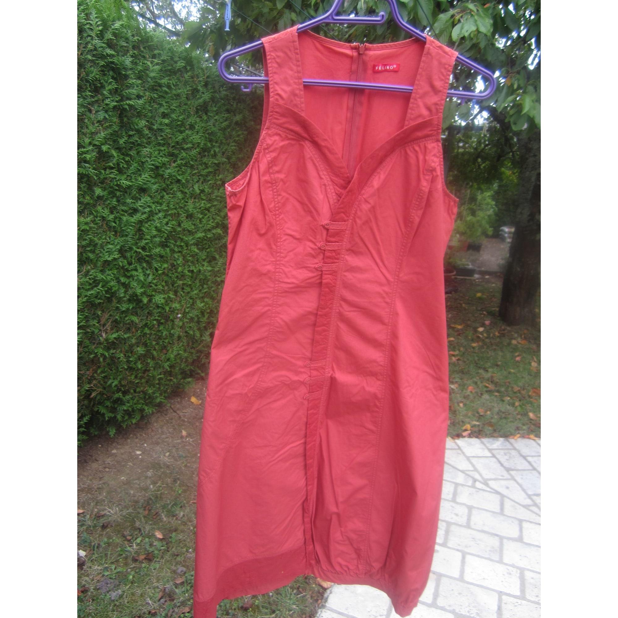 Robe mi-longue FELINO Rouge, bordeaux