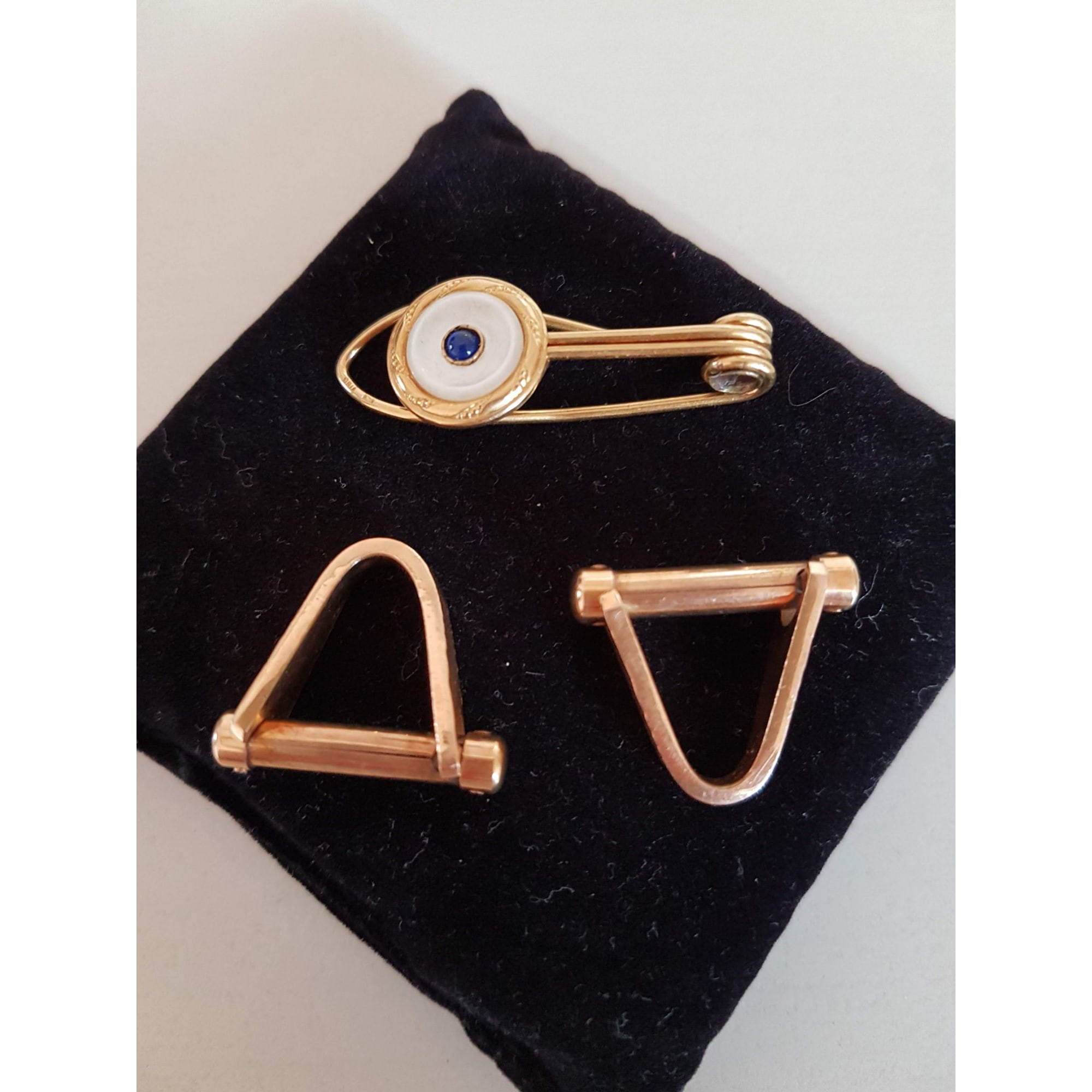 Cufflinks ORIA Golden, bronze, copper