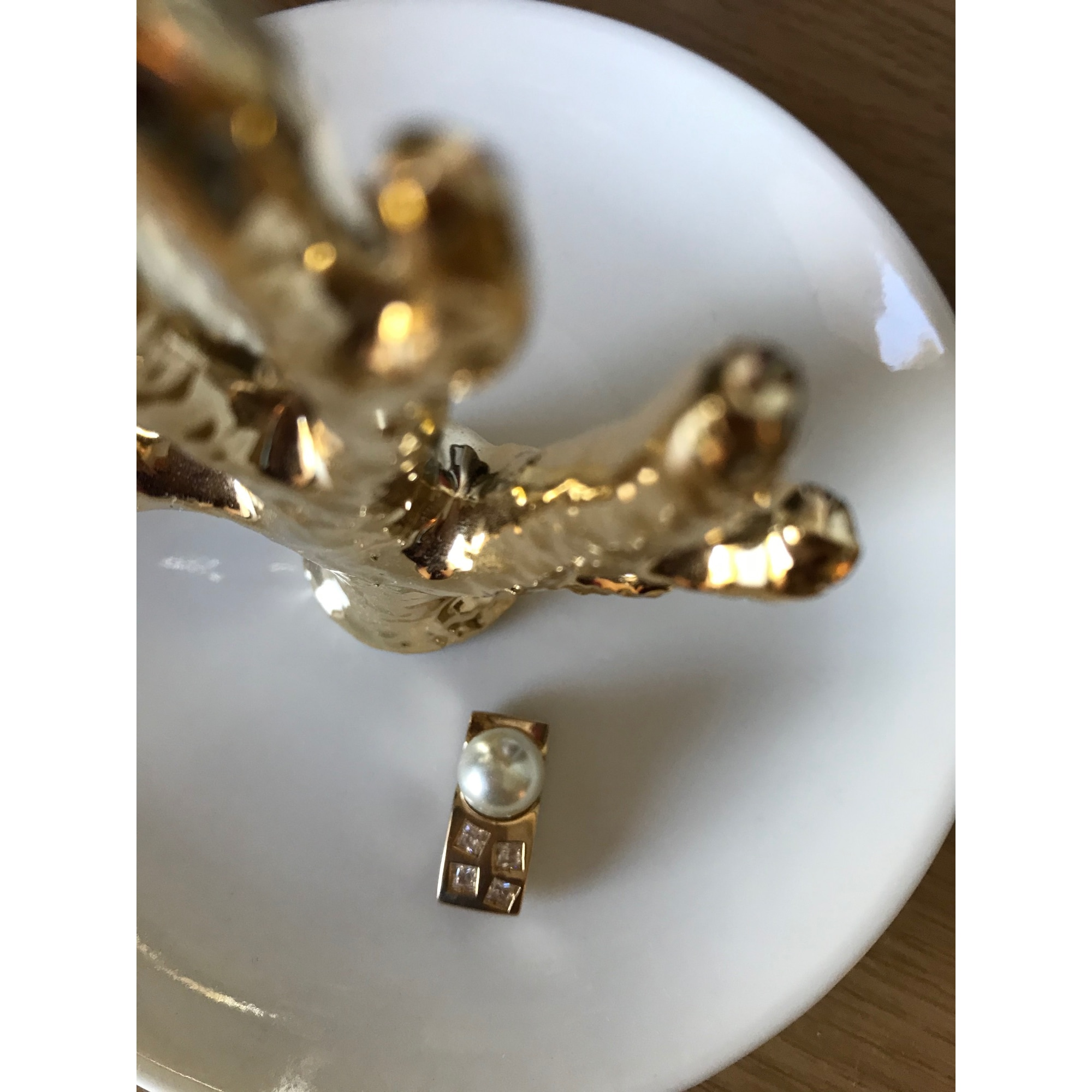 Pendentif, collier pendentif TED LAPIDUS Doré, bronze, cuivre