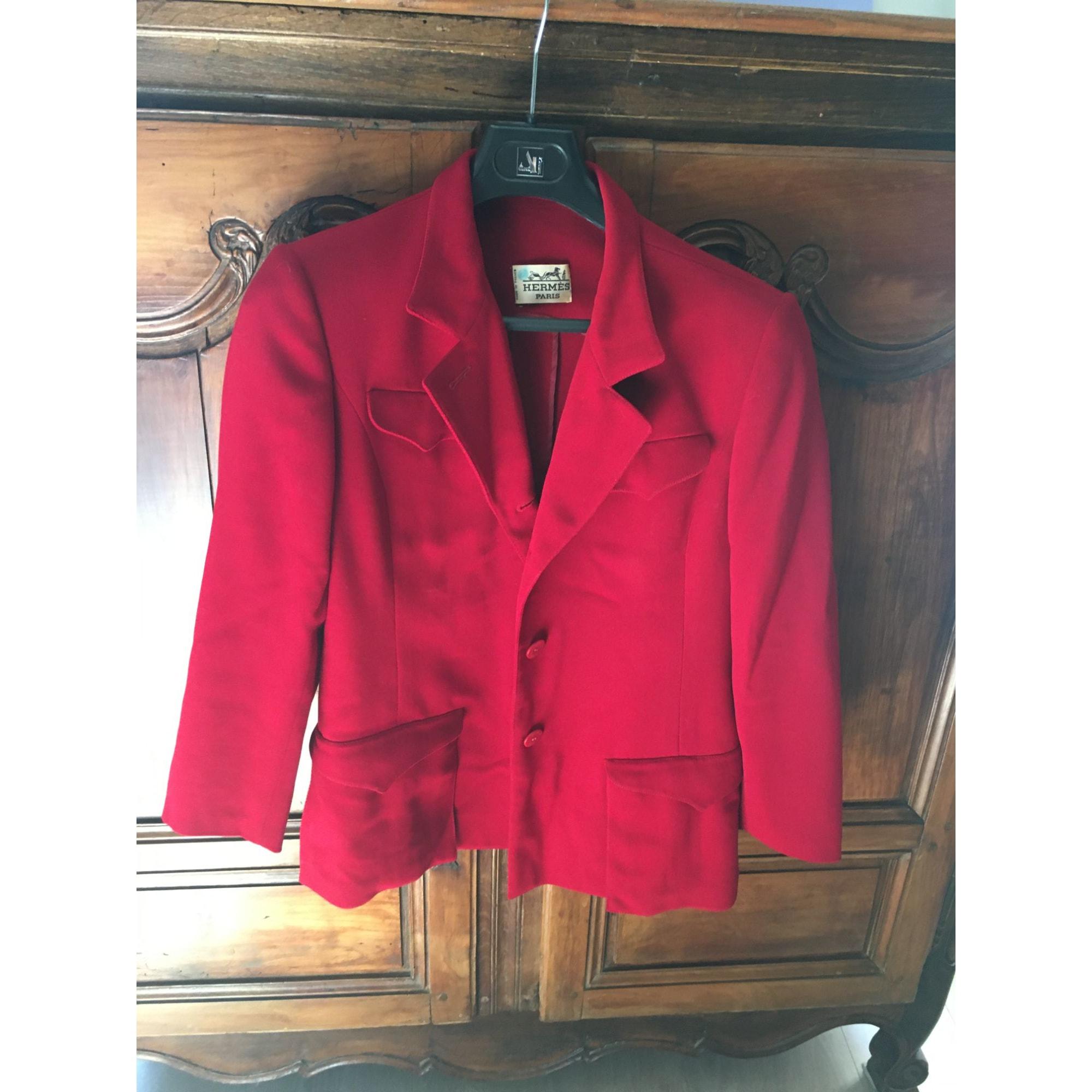 Blazer, veste tailleur HERMÈS Rouge, bordeaux