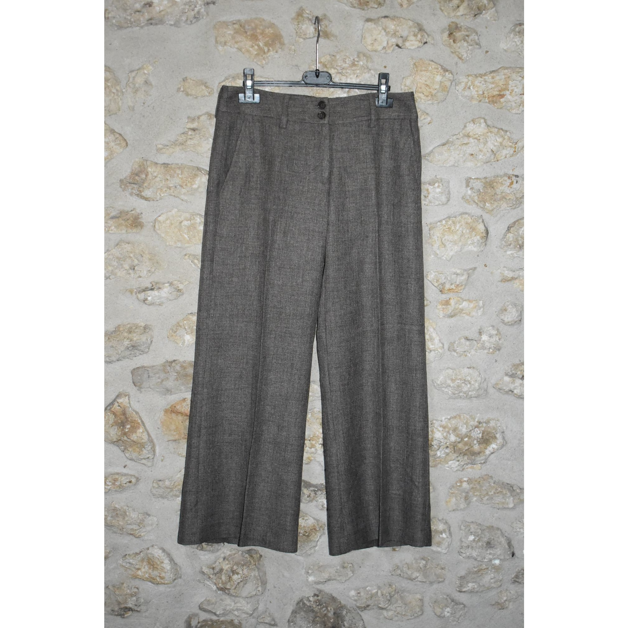 Pantalon large H&M Marron