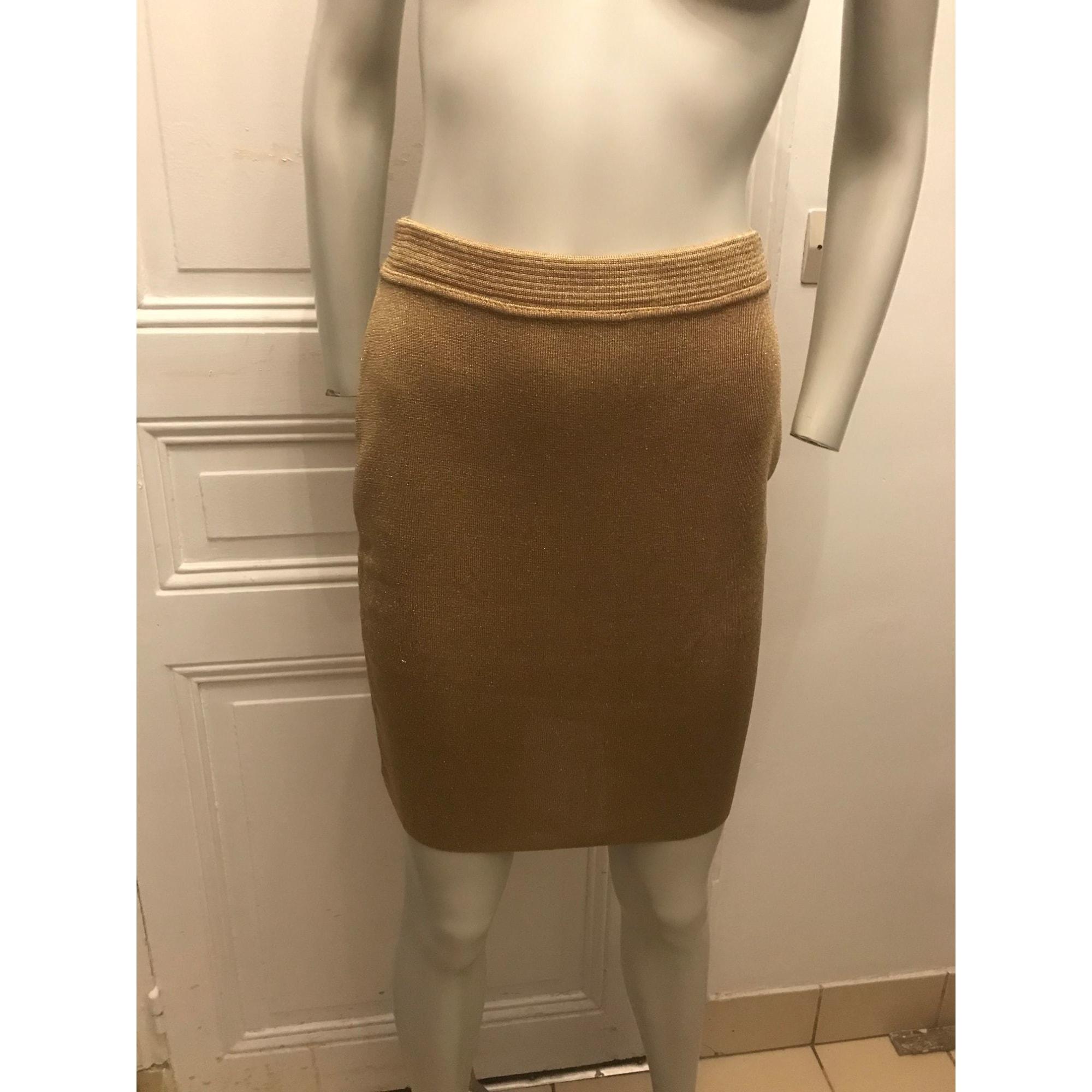 Jupe courte CACHAREL Doré, bronze, cuivre