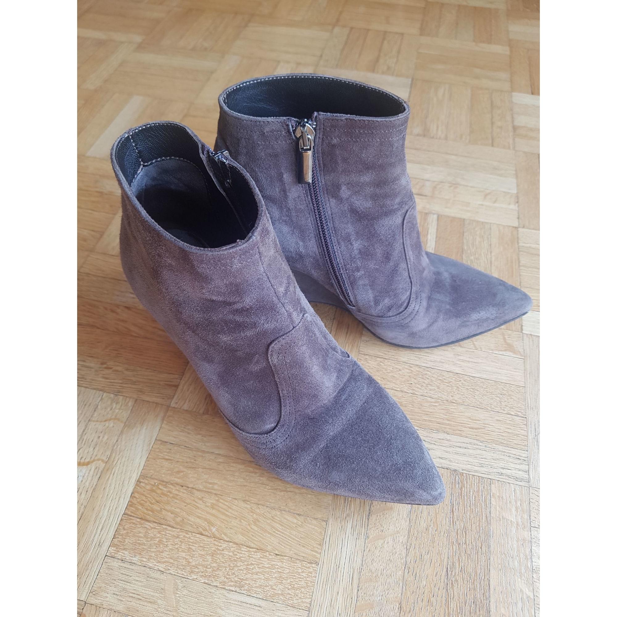 Bottines & low boots à compensés JB MARTIN Gris, anthracite