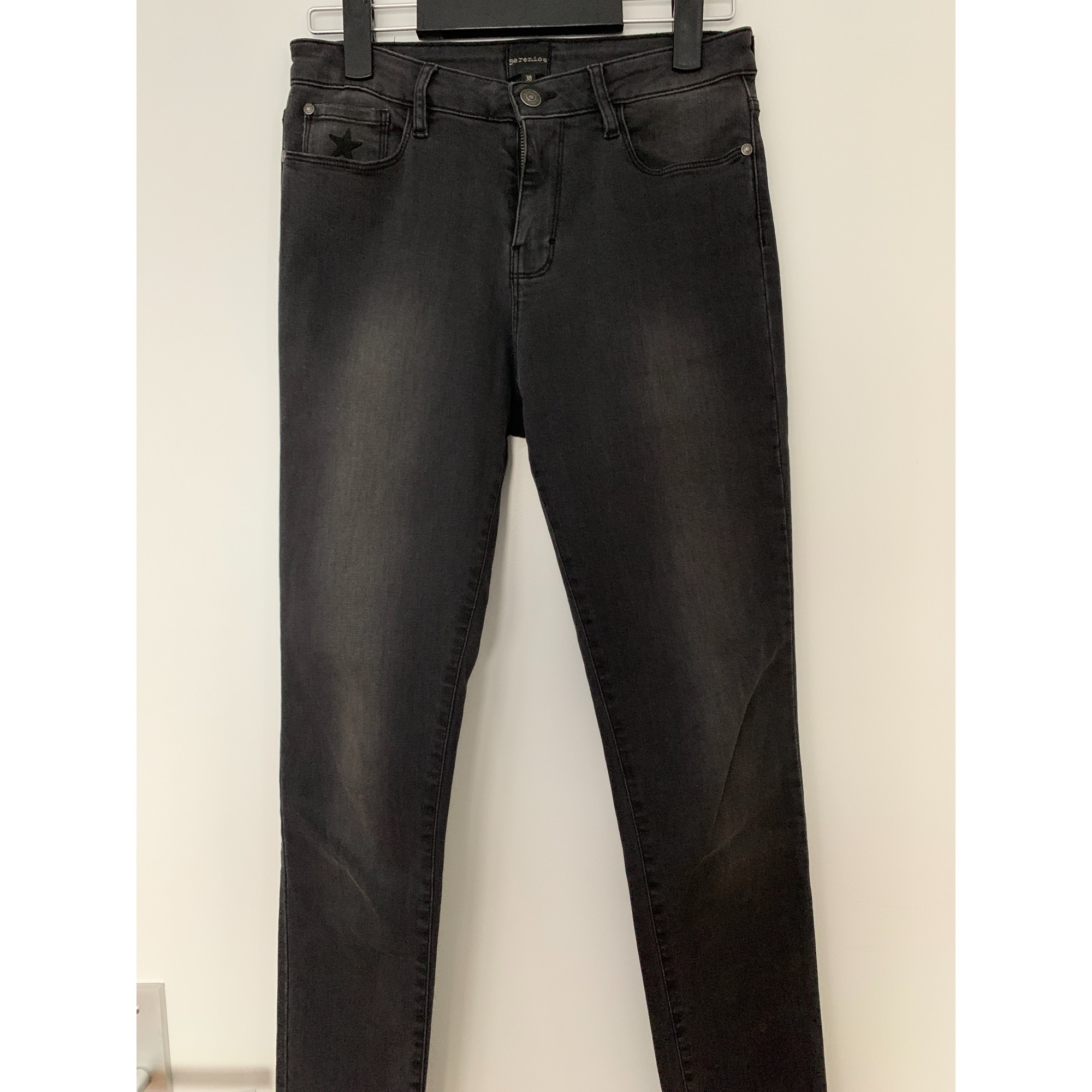 Jeans slim BERENICE Gris, anthracite