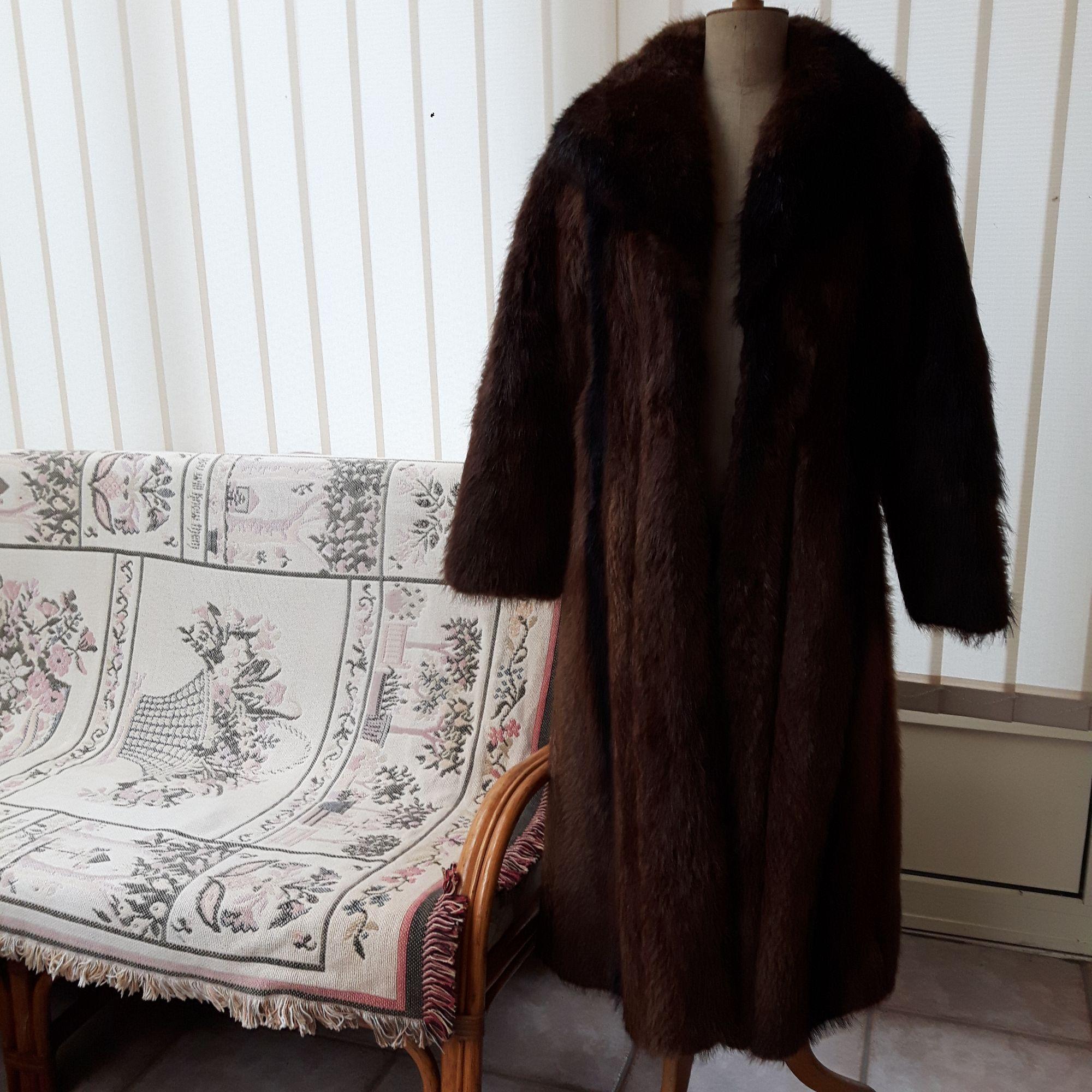 Manteau en fourrure FOURRURES DU NORD Marron