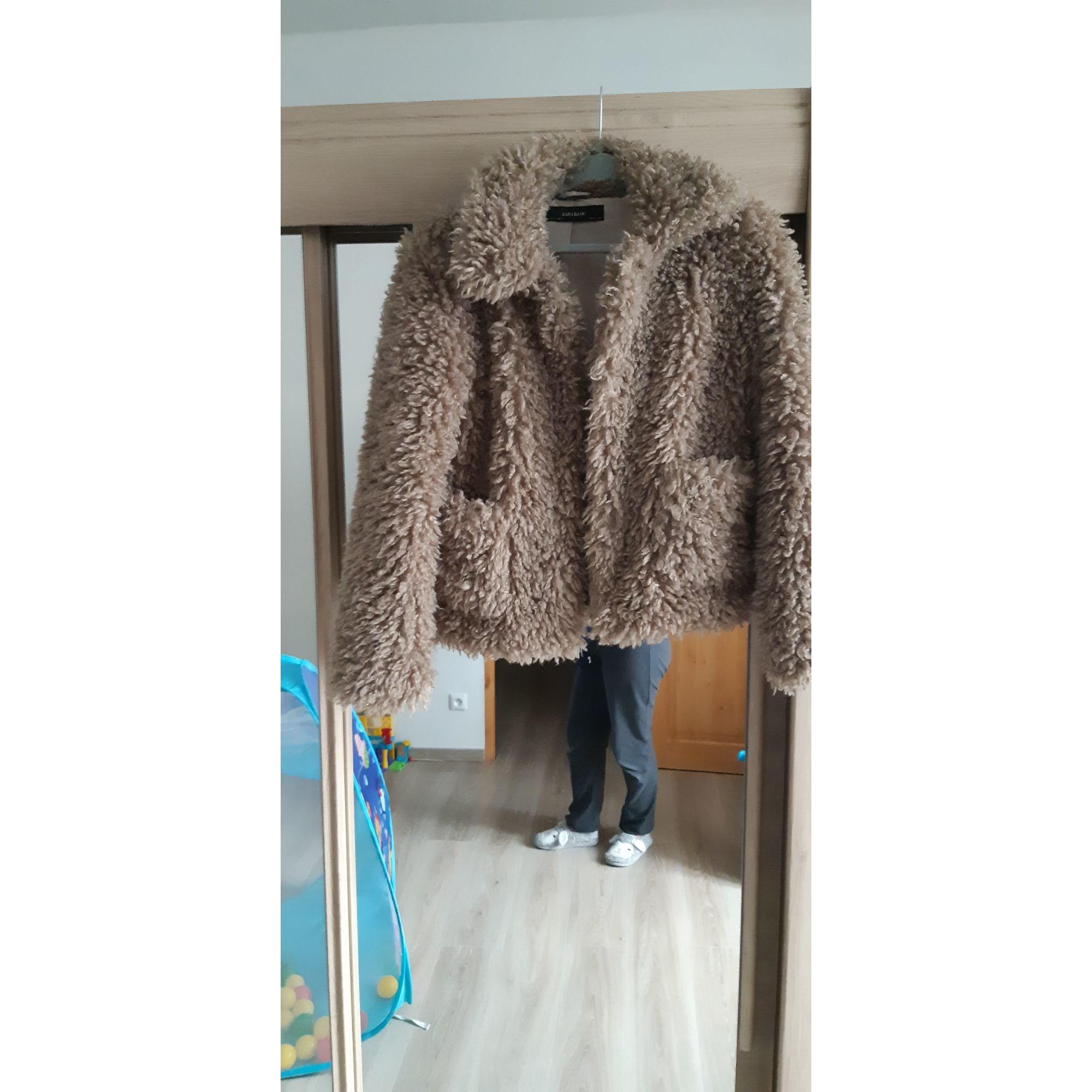 Manteau en fourrure ZARA Marron