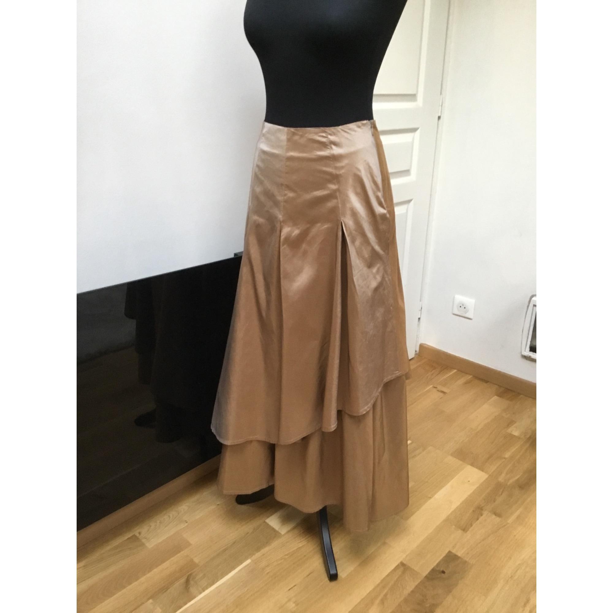 Robe longue RENATO NUCCI Doré, bronze, cuivre