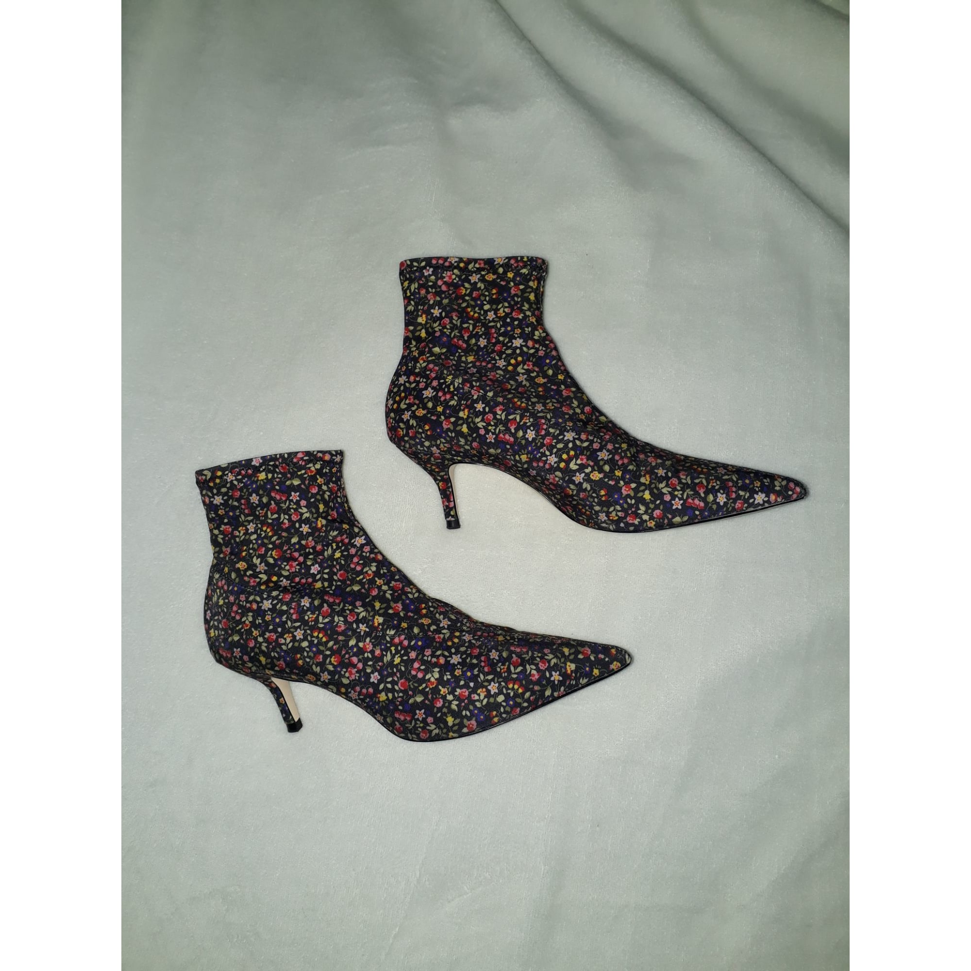 High Heel Ankle Boots ZARA Multicolor