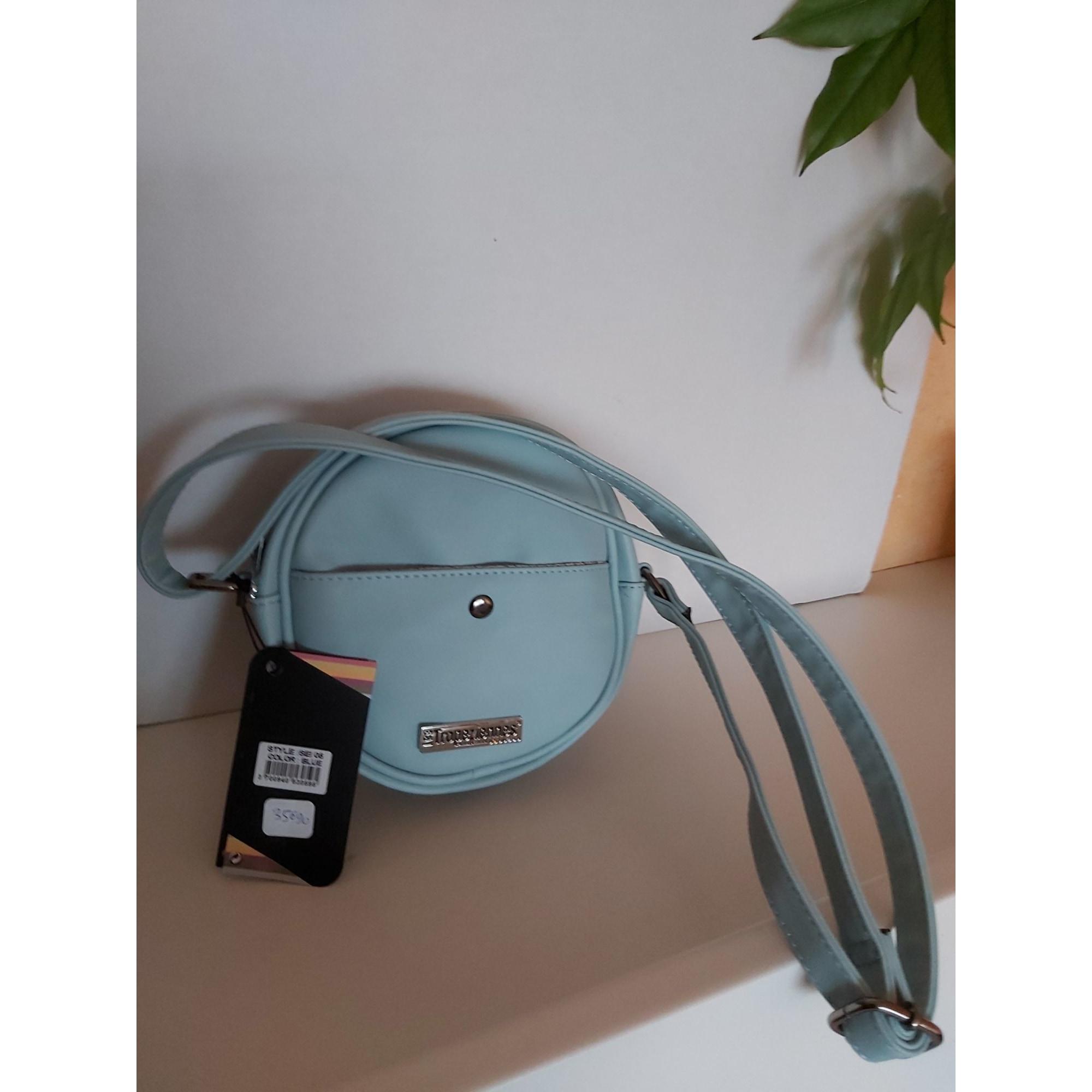 Sac en bandoulière en cuir LES TROPÉZIENNES PAR M. BELARBI Bleu, bleu marine, bleu turquoise