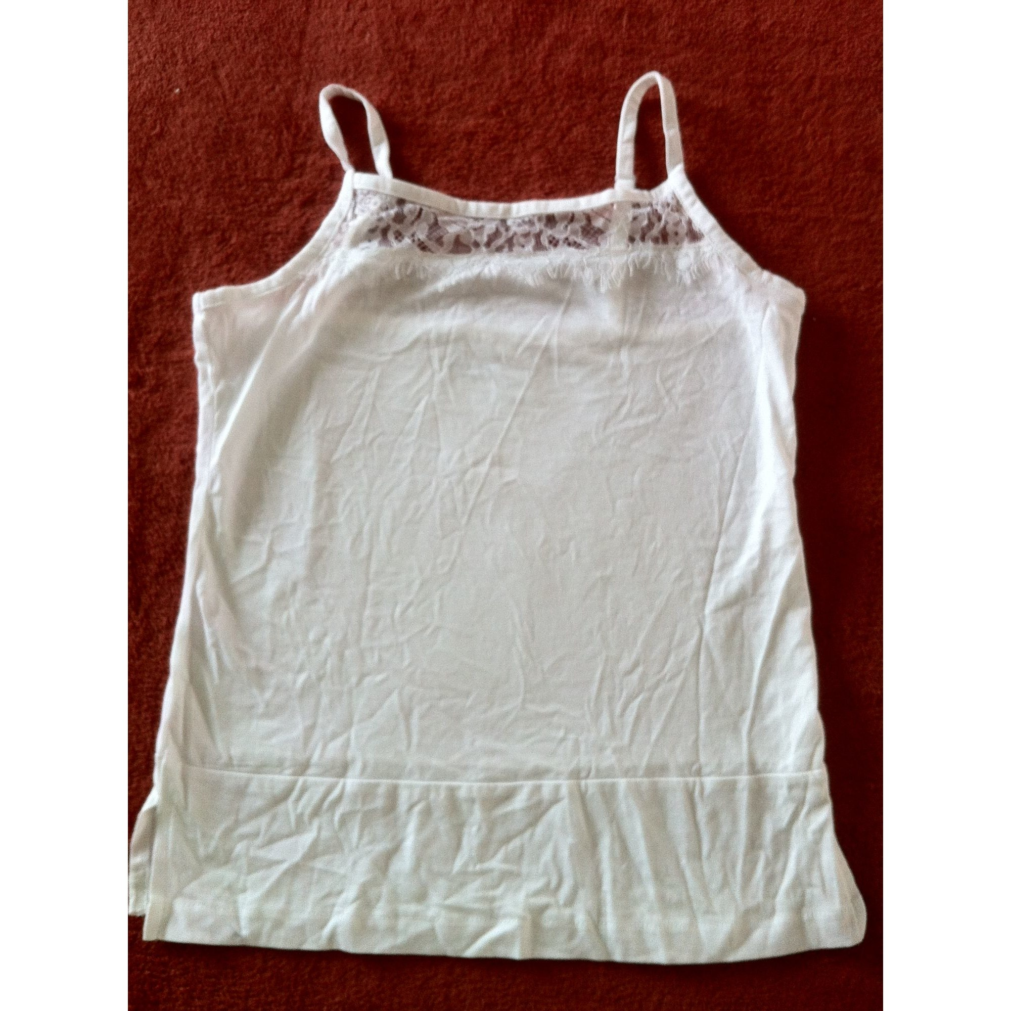 Top, tee-shirt U COLLECTION Blanc, blanc cassé, écru