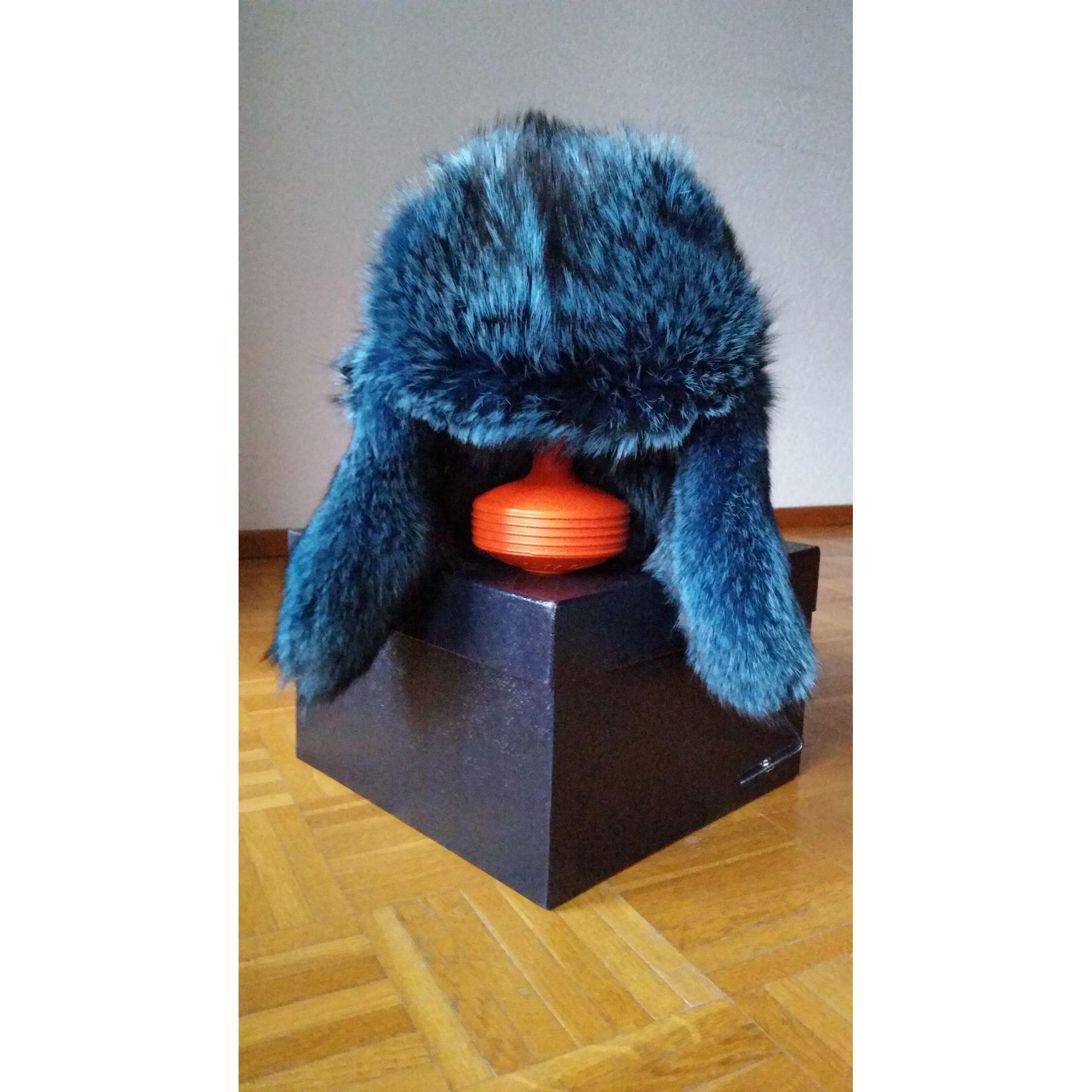 Chapeau PRADA Bleu, bleu marine, bleu turquoise