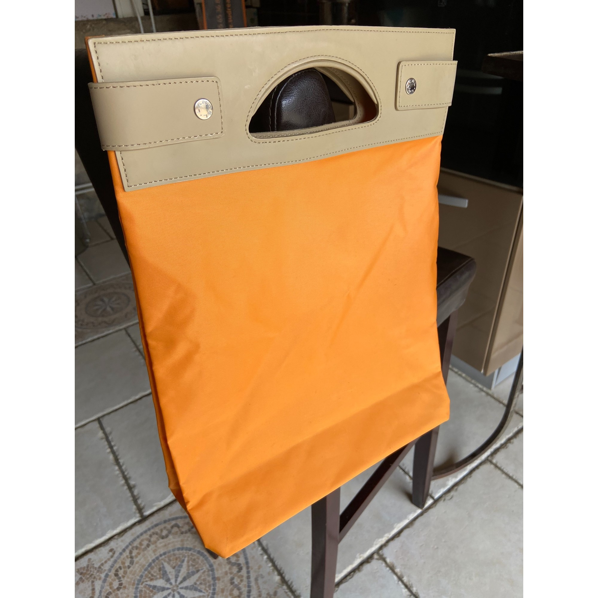Sac à main en tissu LANCEL Orange