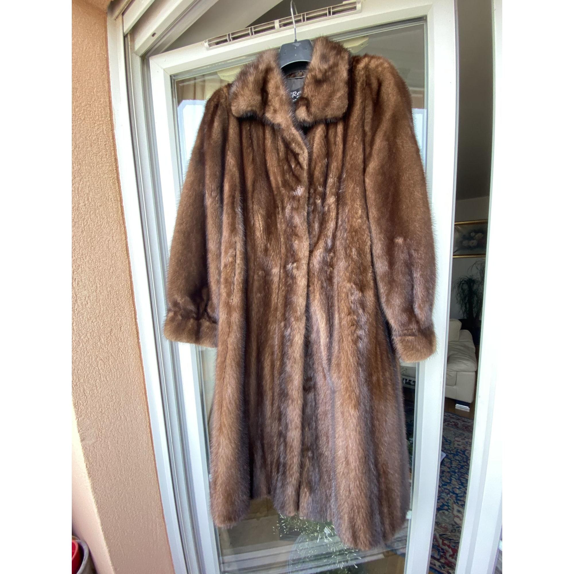 Manteau en fourrure REVILLON Marron