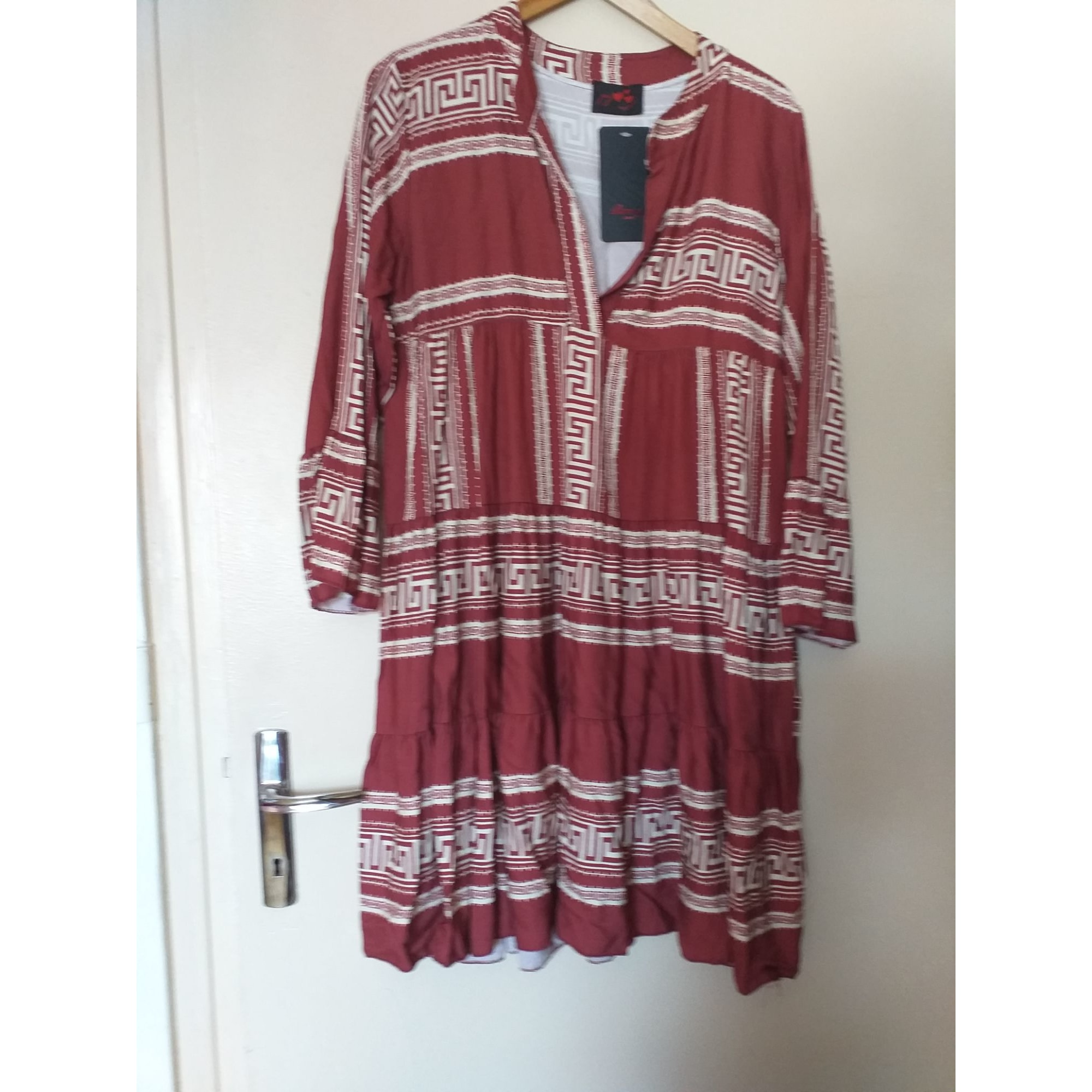 Robe tunique MADE IN ITALIE Rouge, bordeaux