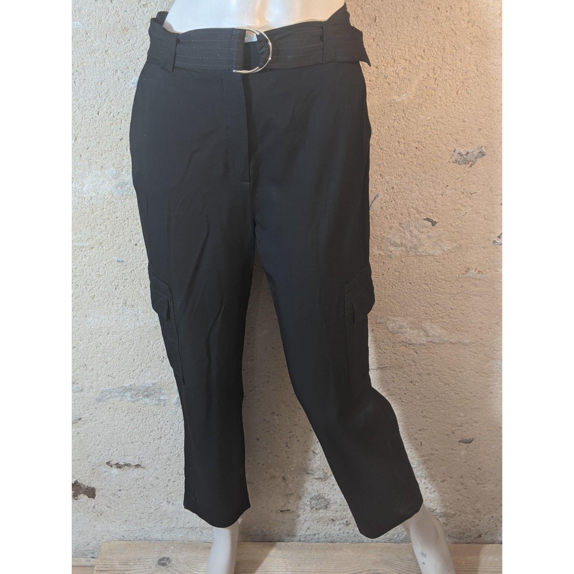 Pantalon droit MASSIMO DUTTI Noir