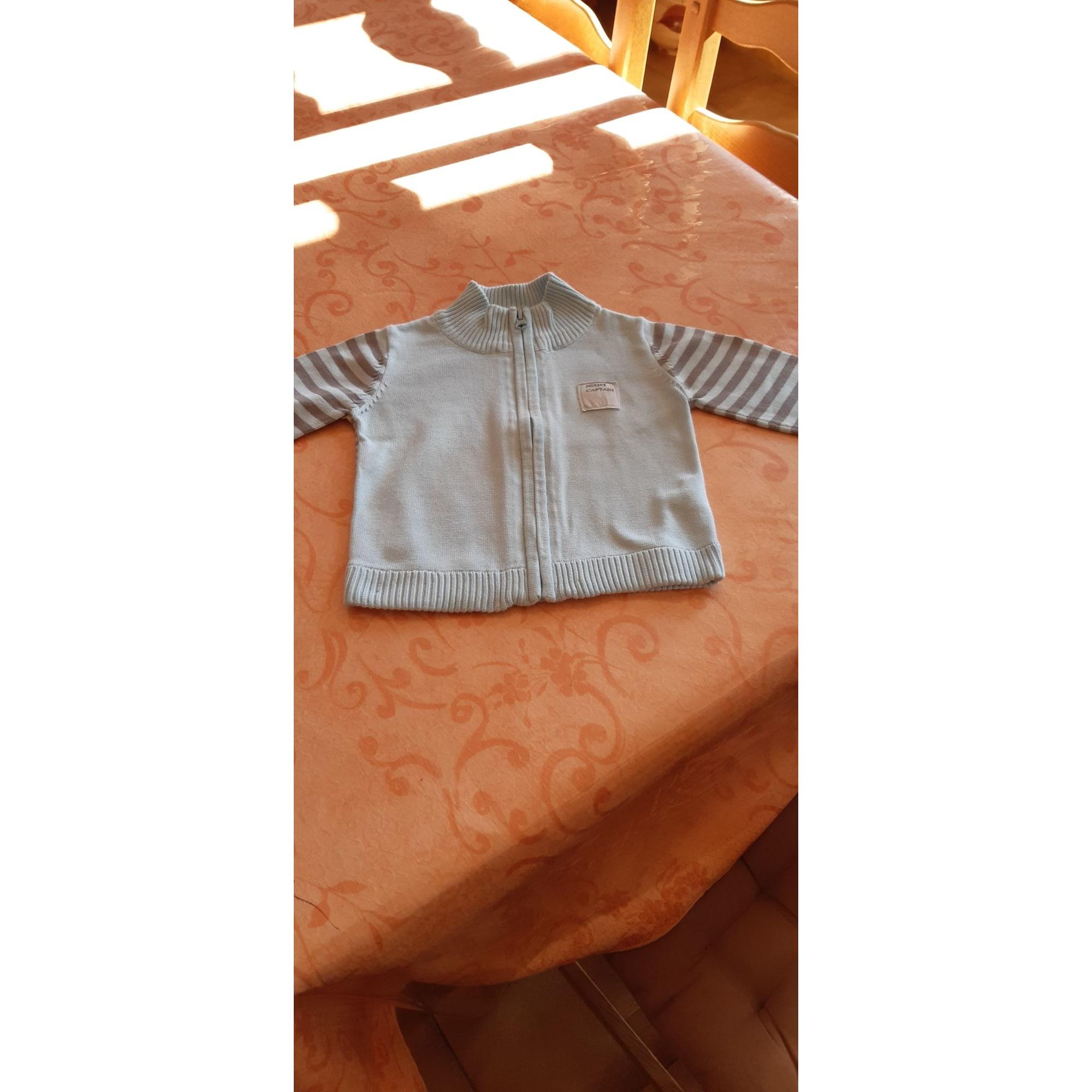 Gilet, cardigan ALPHABET Bleu, bleu marine, bleu turquoise