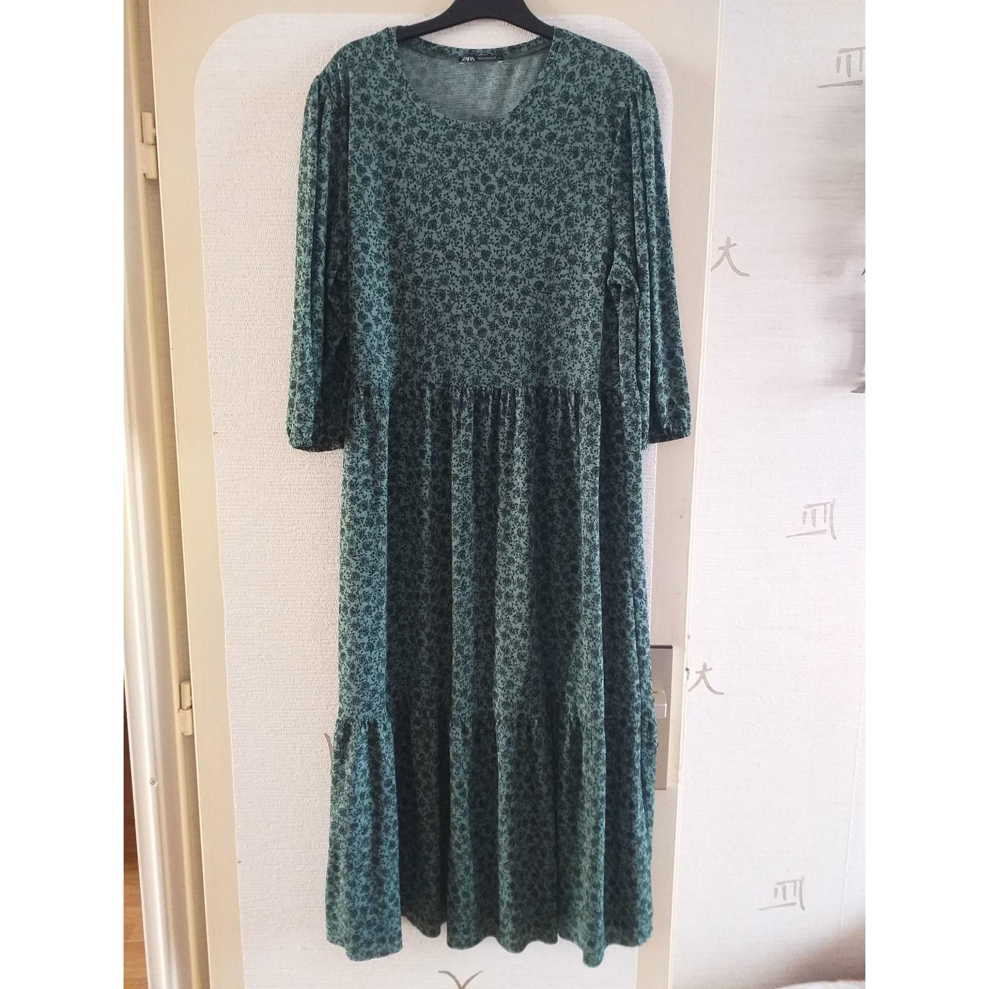 Robe mi-longue ZARA Vert