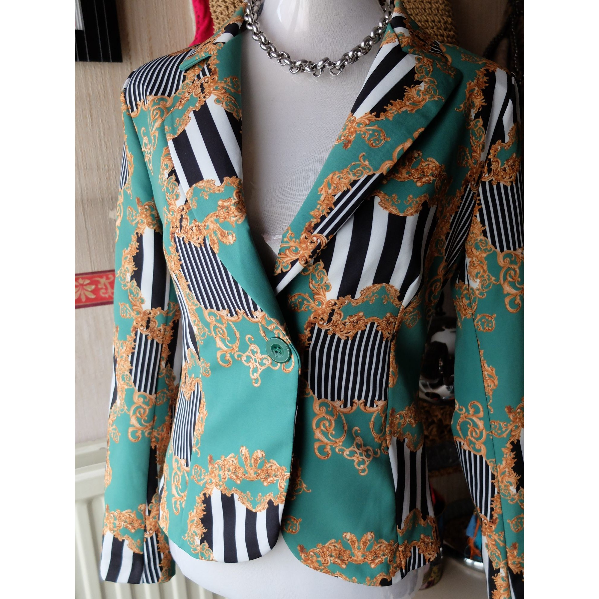 Blazer, veste tailleur MADE IN ITALIE Vert