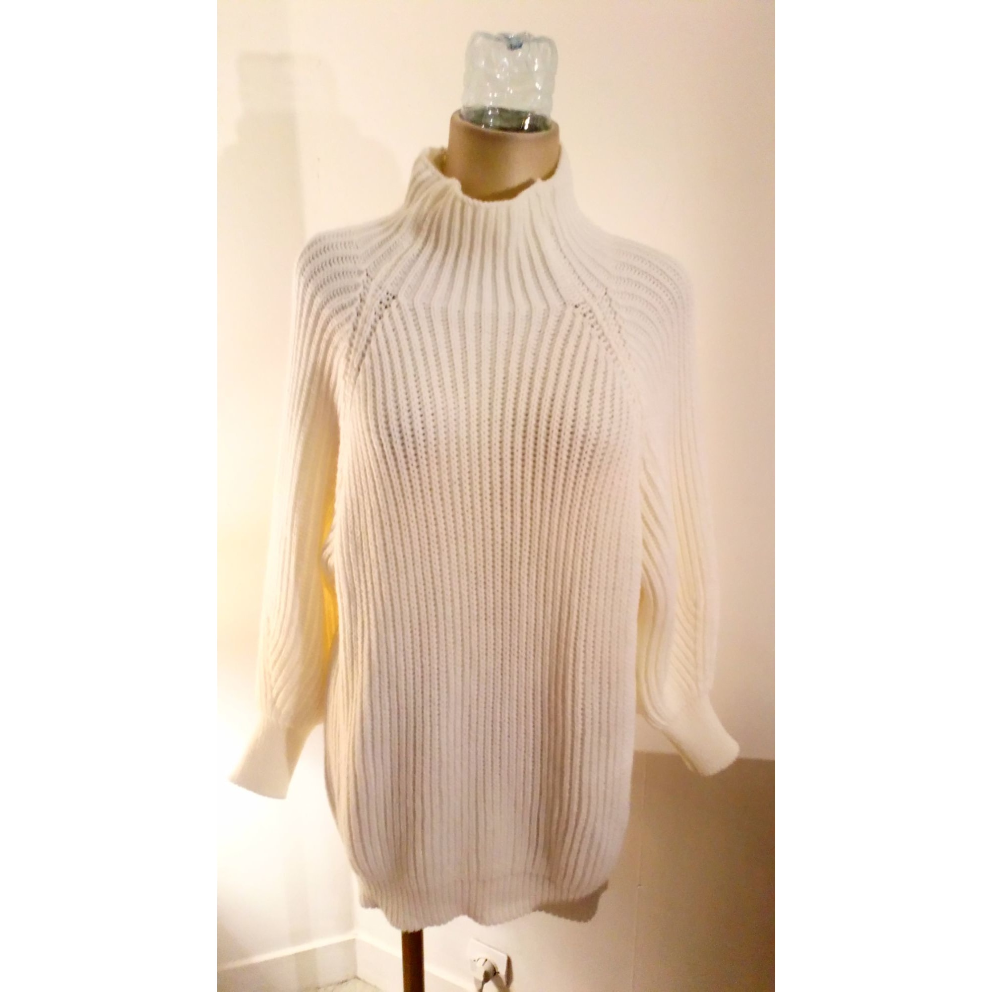 Pull tunique MADE IN ITALIE Blanc, blanc cassé, écru