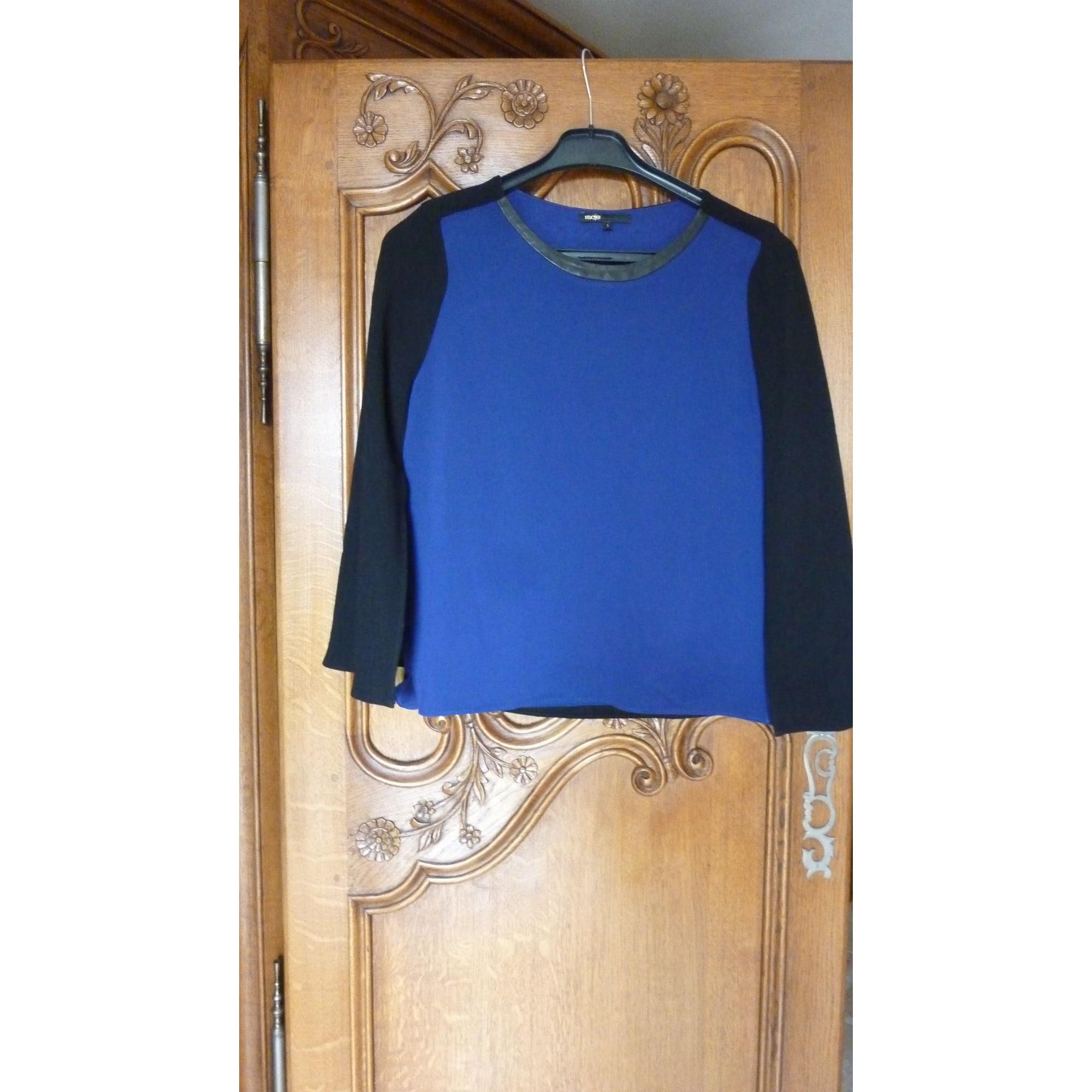 Top, tee-shirt MAJE Bleu, bleu marine, bleu turquoise