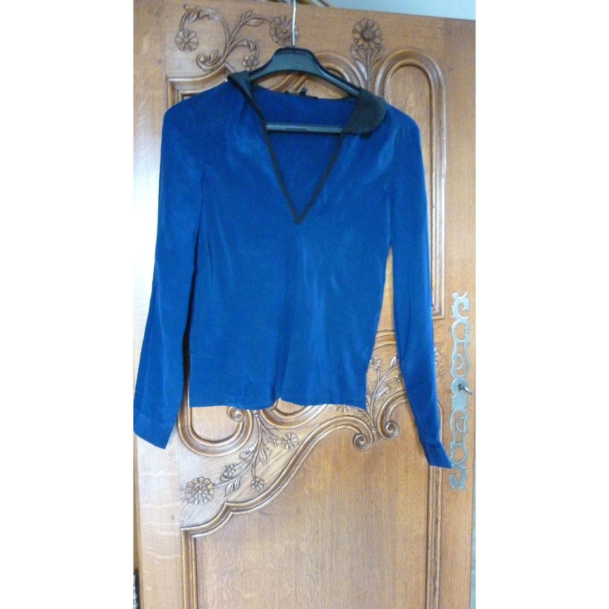 Chemise MAJE Bleu, bleu marine, bleu turquoise