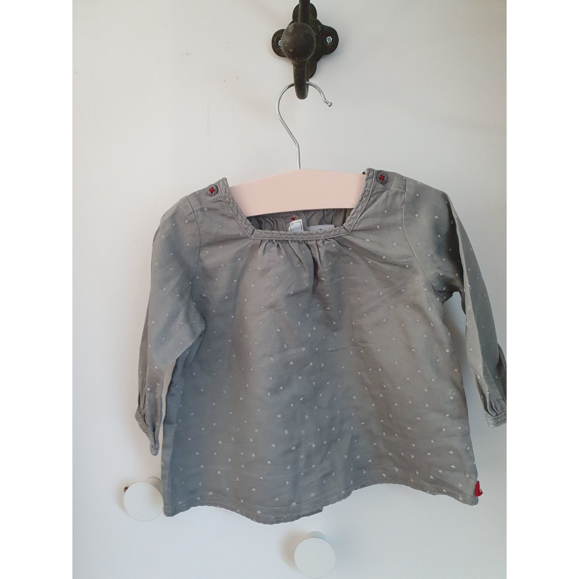 Chemisier, chemisette PETIT BATEAU Gris, anthracite
