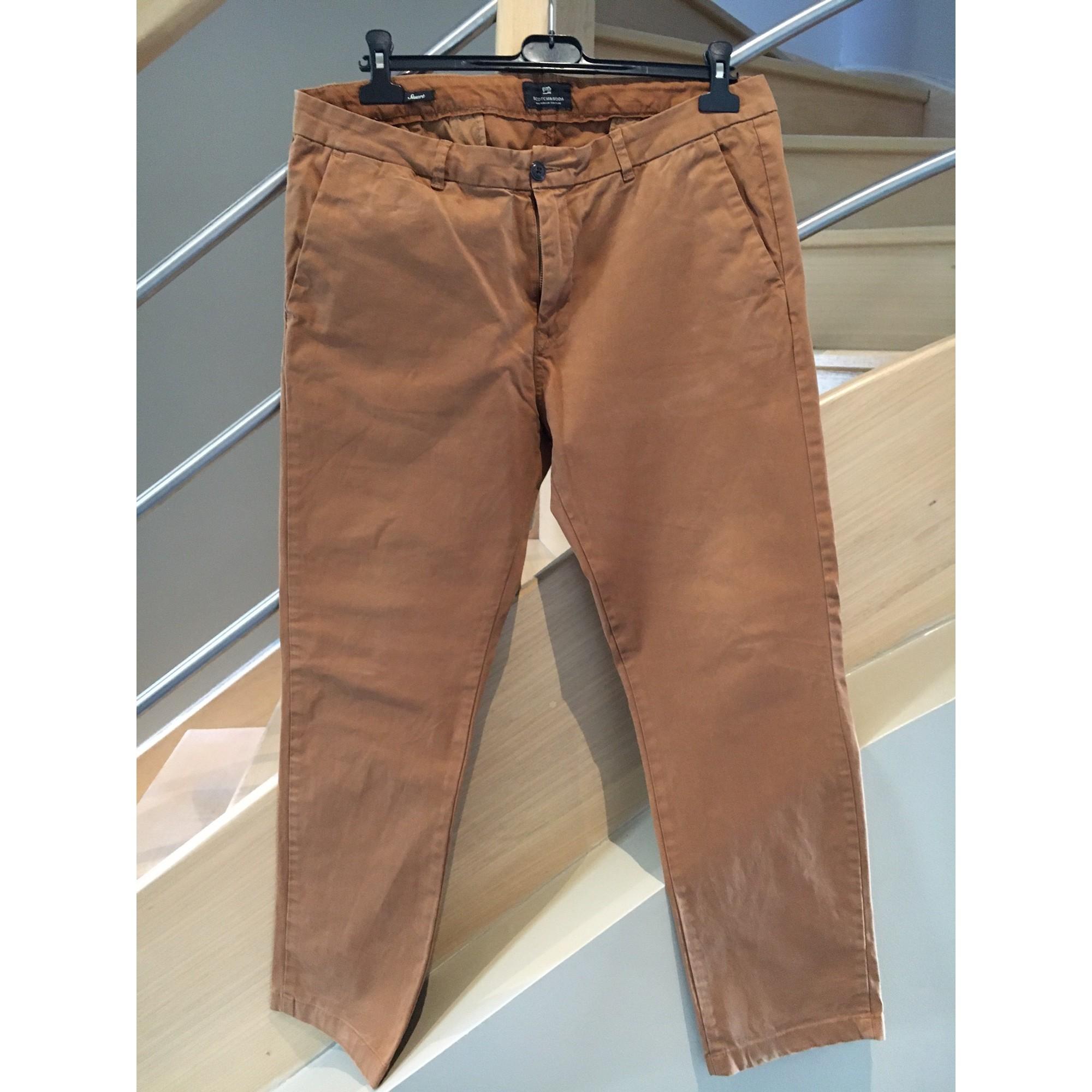 Pantalon droit SCOTCH & SODA Marron