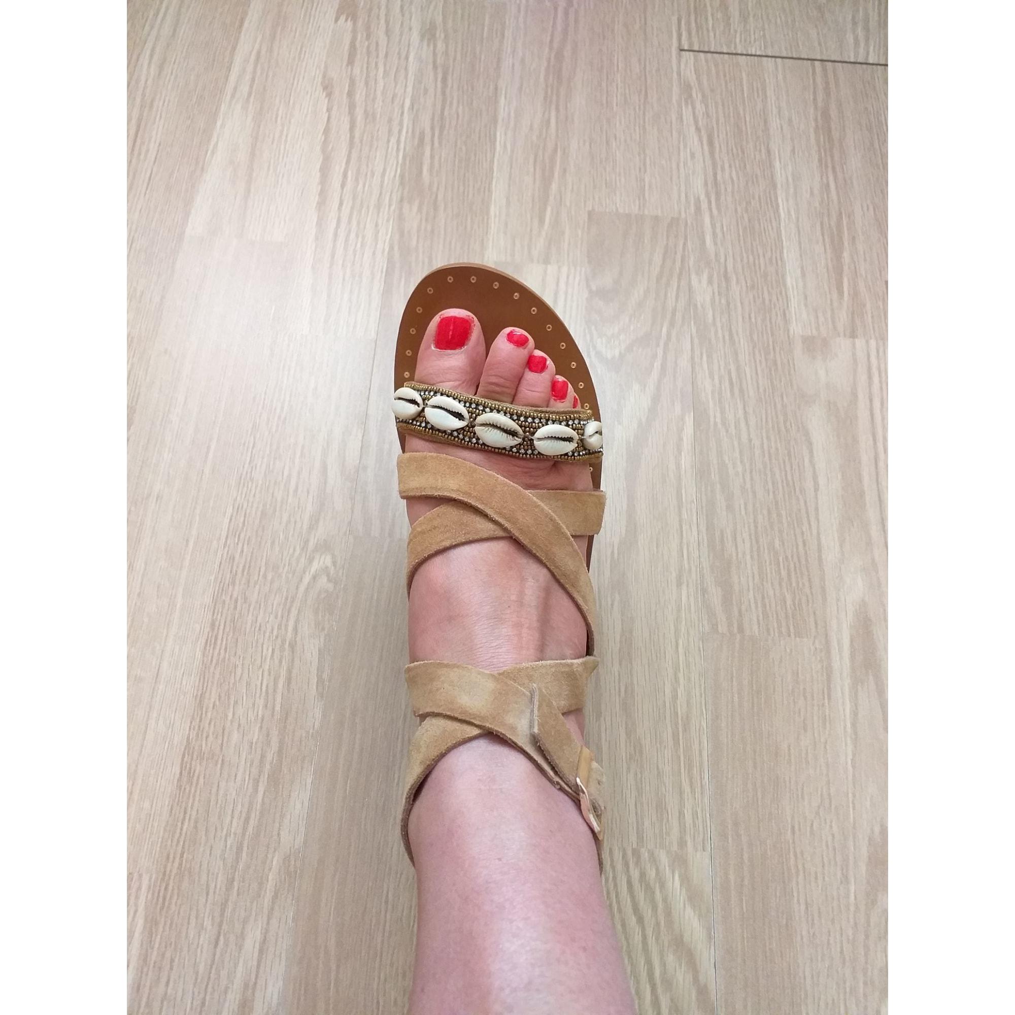 Sandales plates  PROMOD Marron