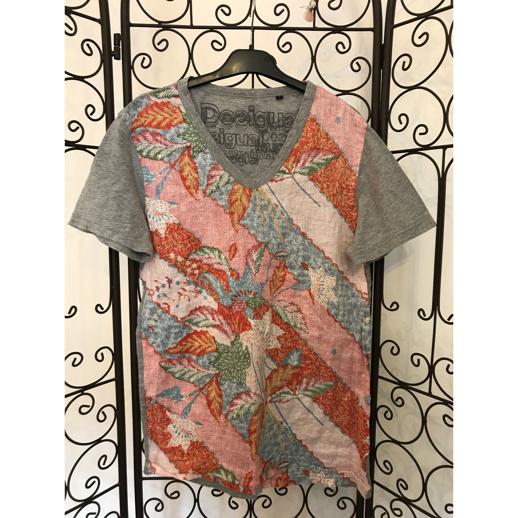 T-shirt DESIGUAL Gray, charcoal