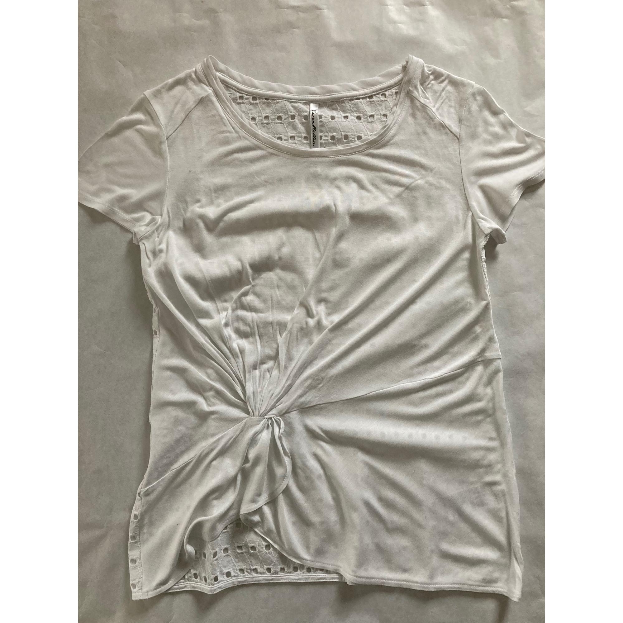 Top, tee-shirt KAREN MILLEN Blanc, blanc cassé, écru