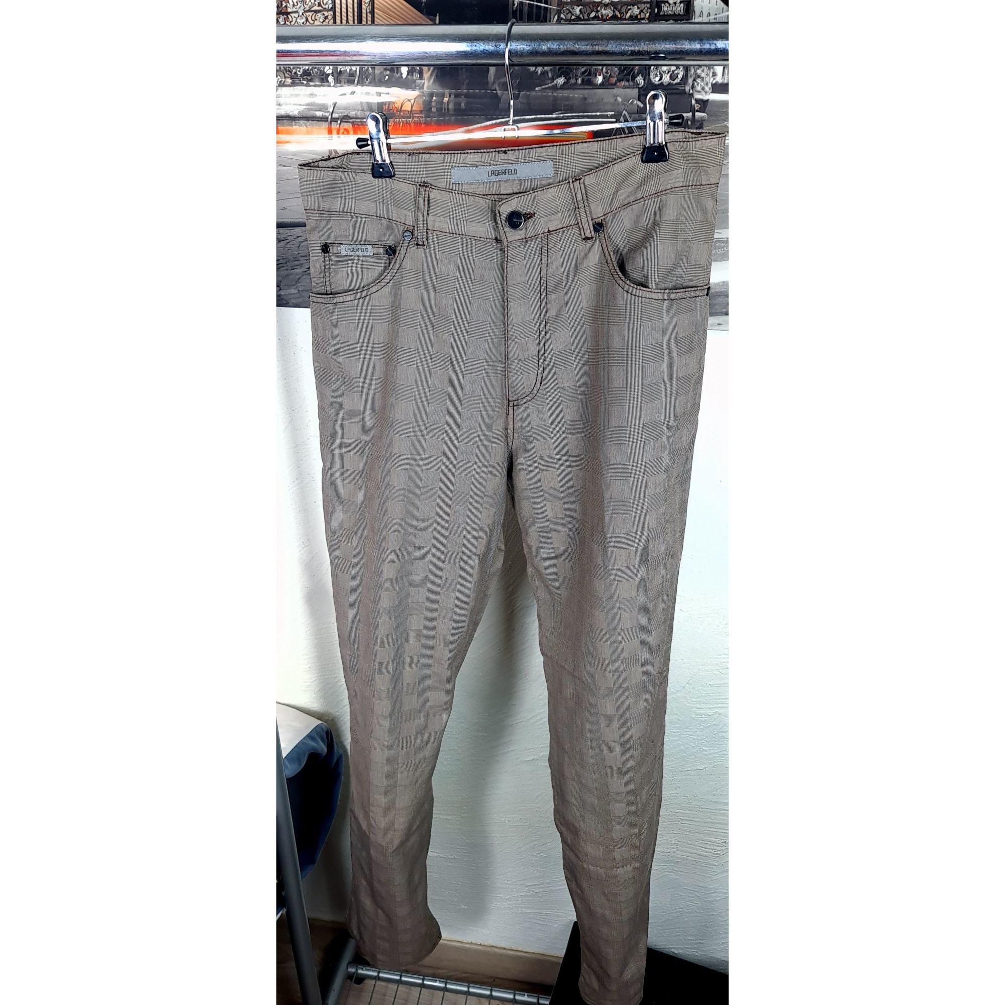Pantalon droit KARL LAGERFELD Gris, anthracite