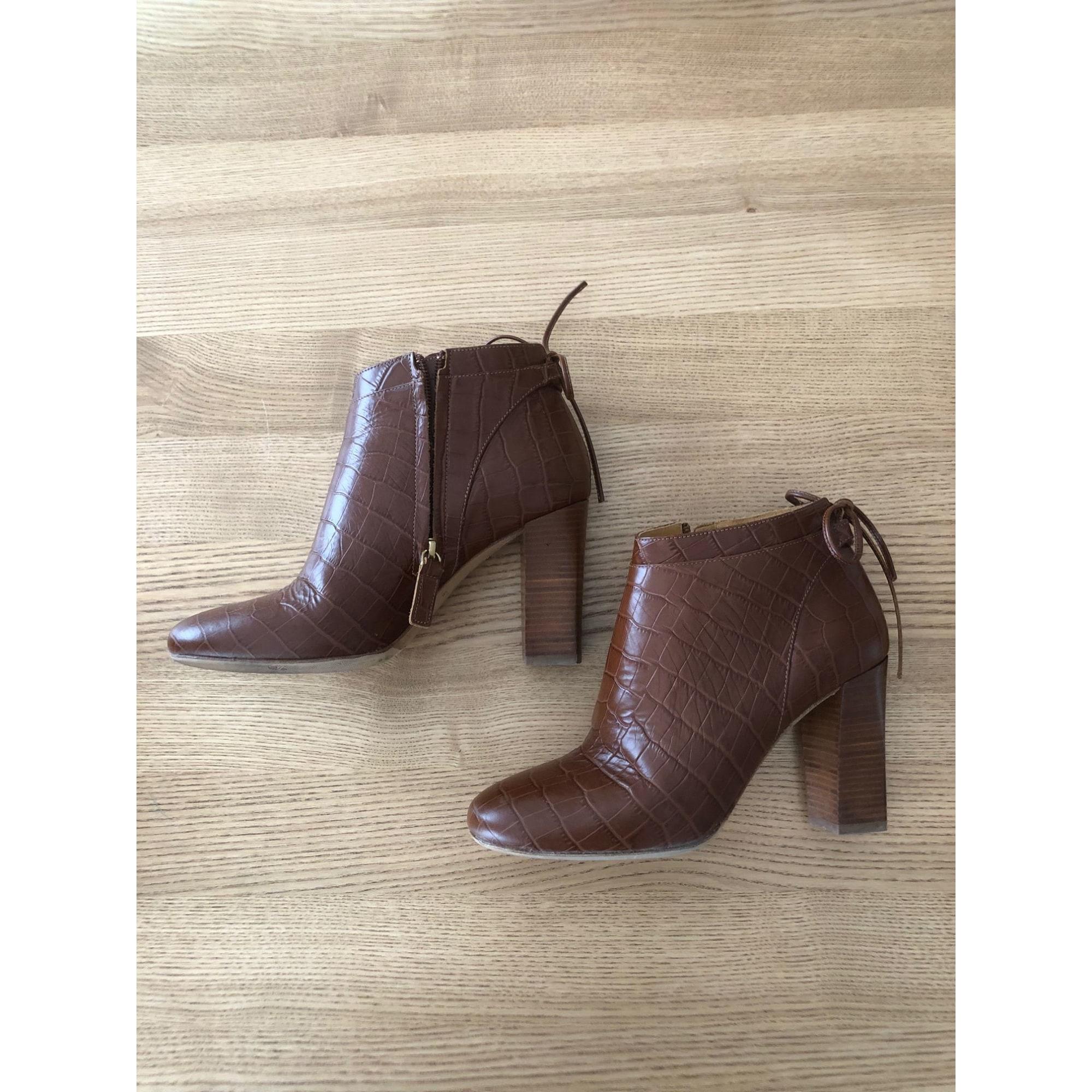 Bottines & low boots à talons SÉZANE Marron