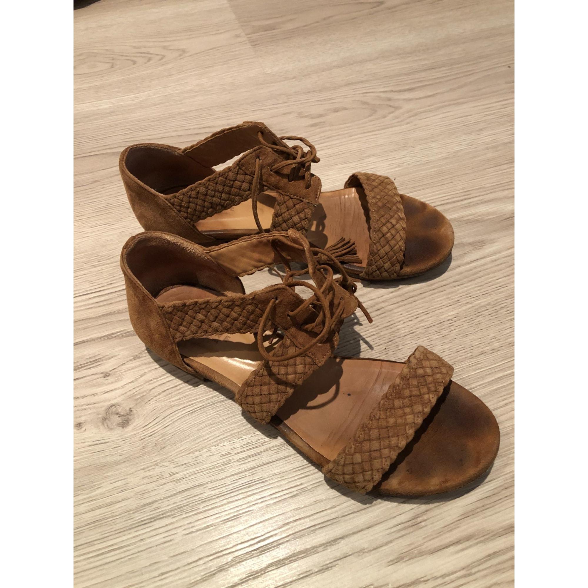 Sandales plates  SÉZANE Marron