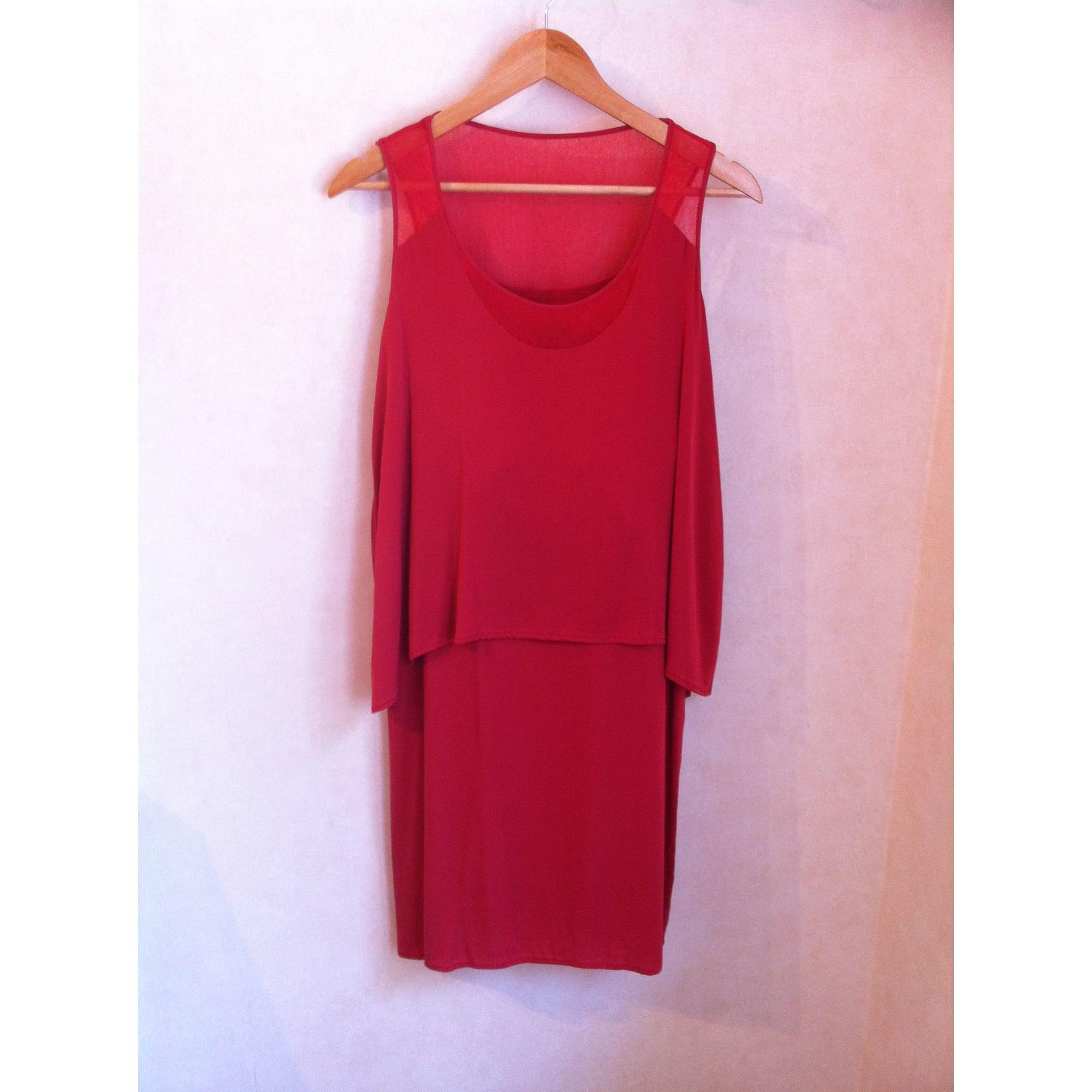 Robe courte GERARD DAREL Rouge framboise