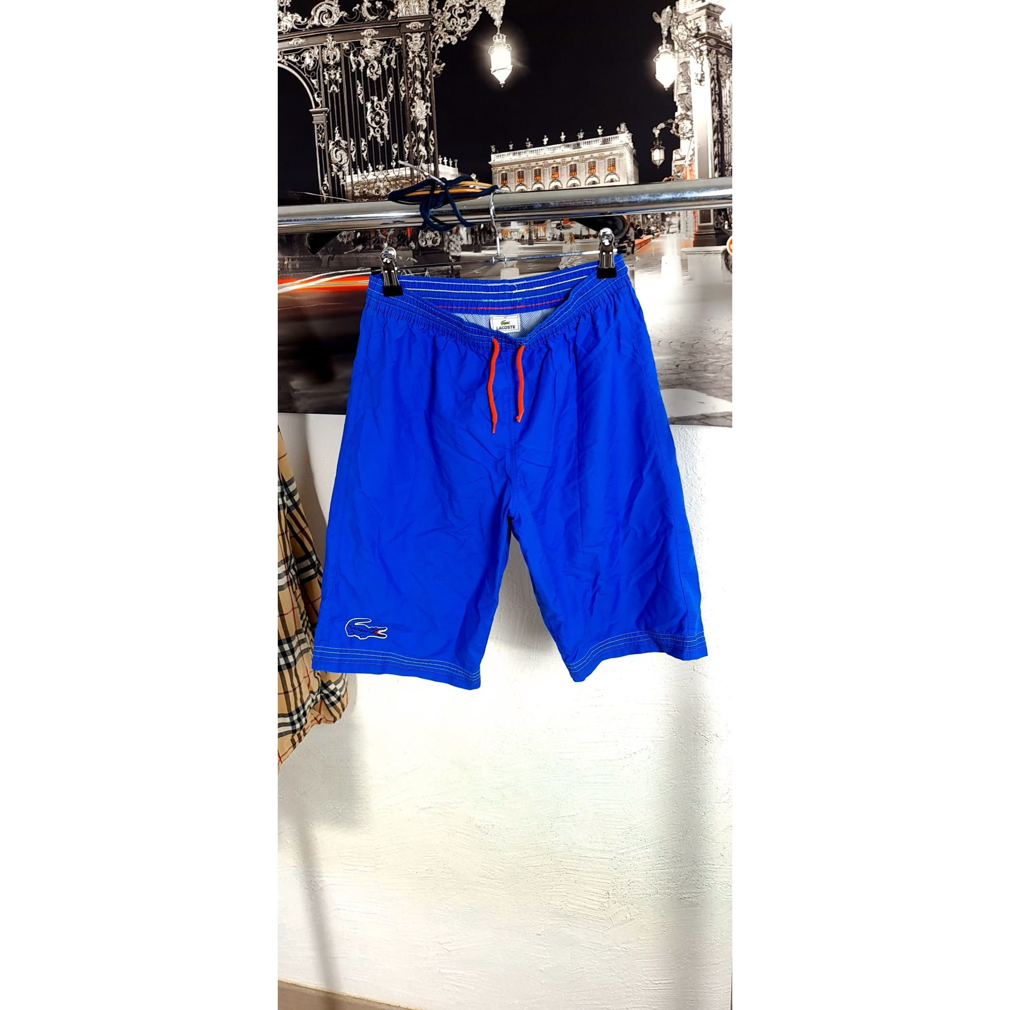 Short LACOSTE Bleu, bleu marine, bleu turquoise