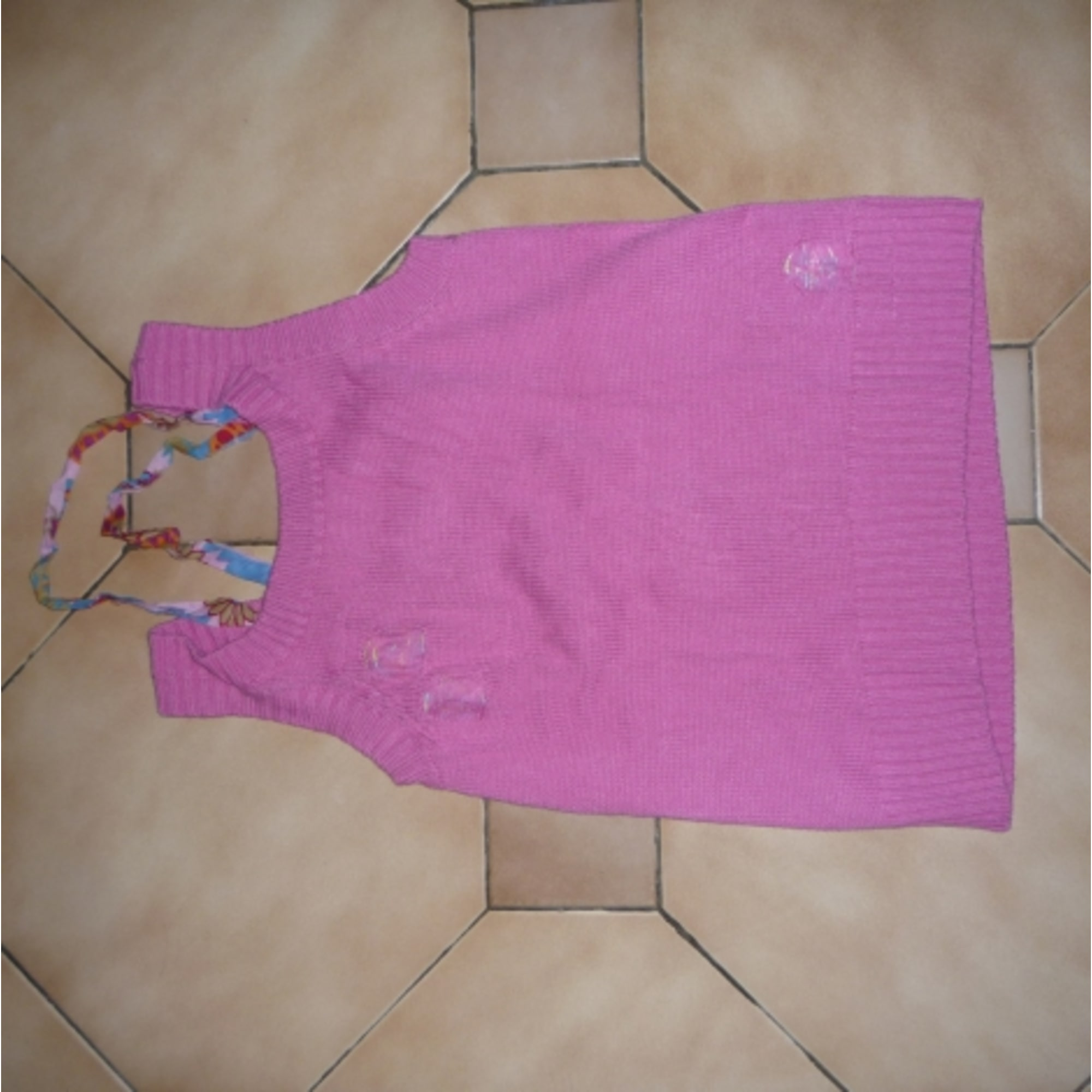 Top, Tee-shirt IKKS Rose, fuschia, vieux rose