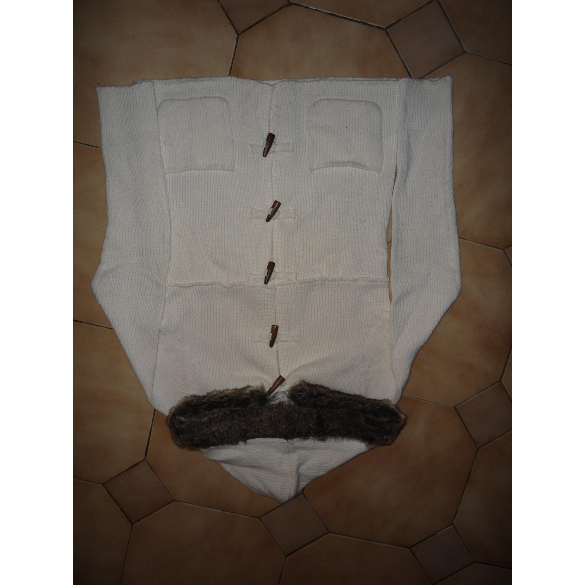 Gilet, cardigan STRADIVARIUS Blanc, blanc cassé, écru