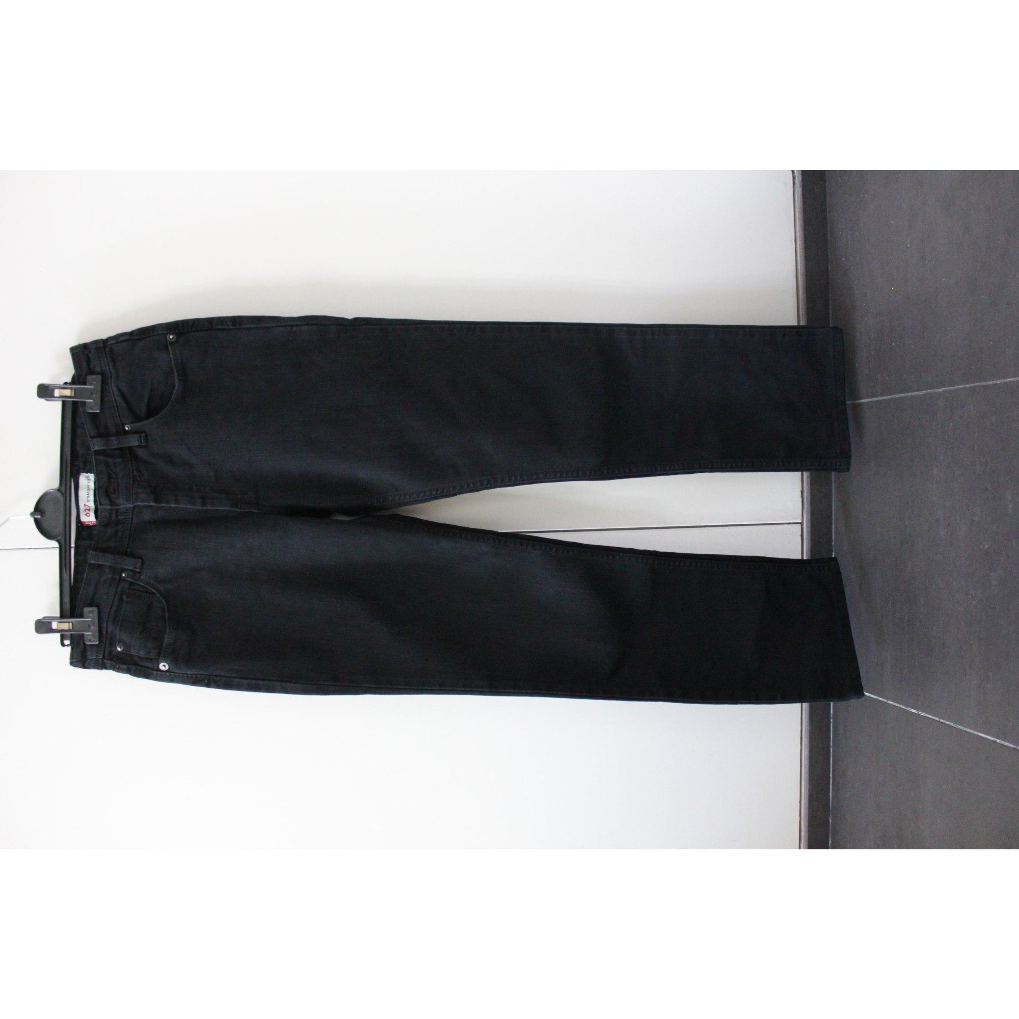 Jeans droit LEVI'S Gris, anthracite