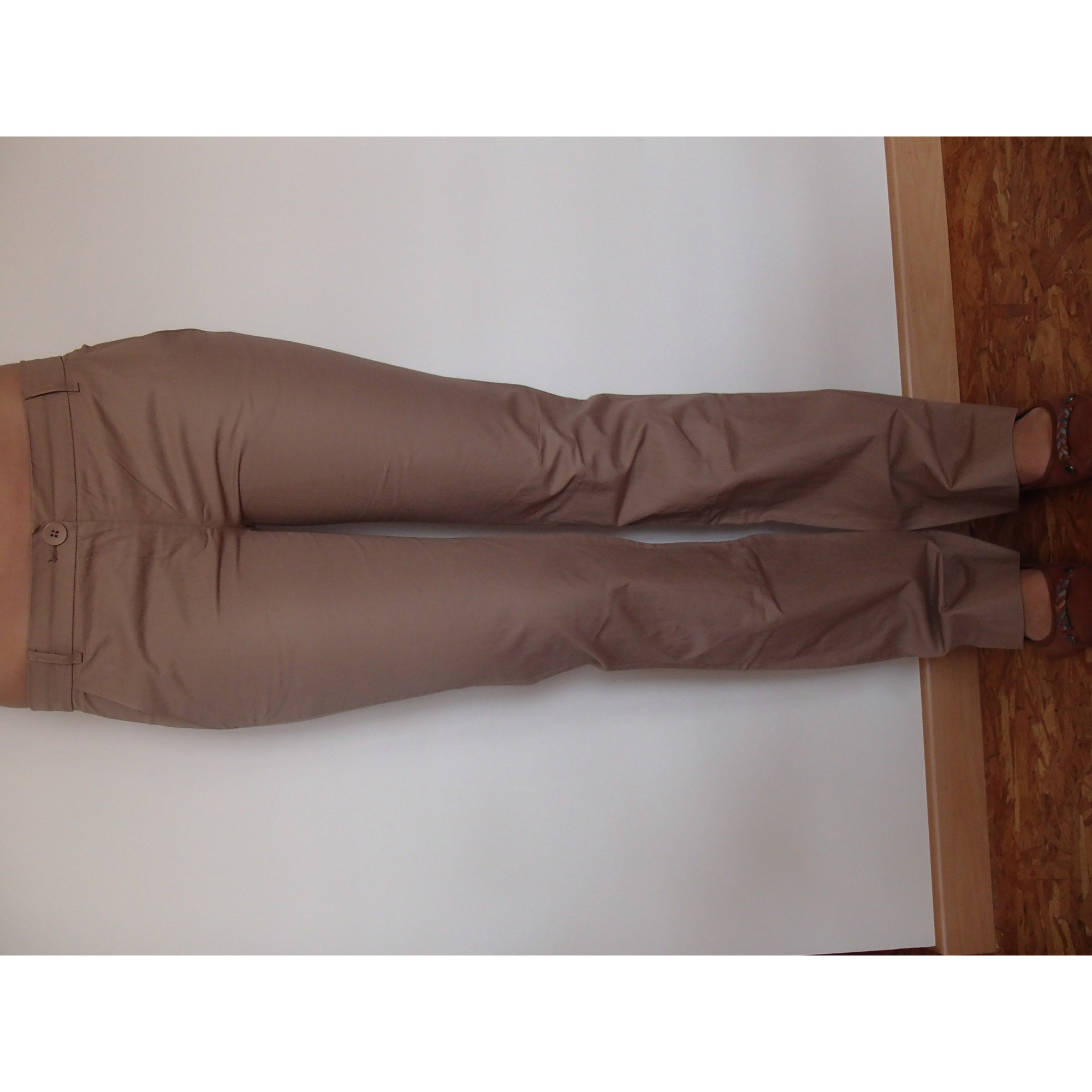 Pantalon droit NAF NAF Beige, camel