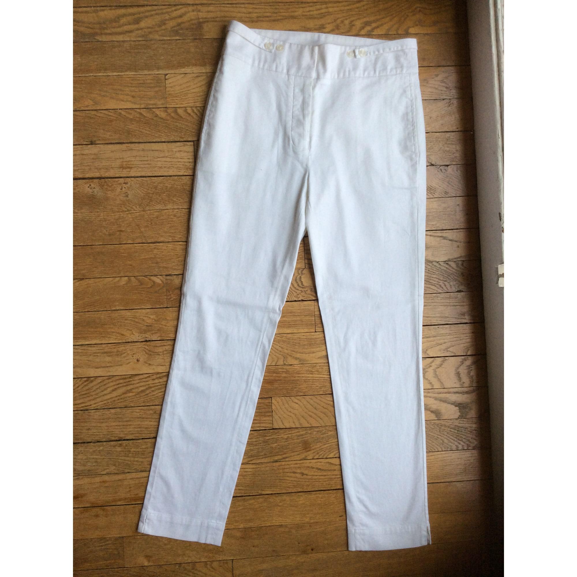 Pantalon slim, cigarette LACOSTE Blanc, blanc cassé, écru