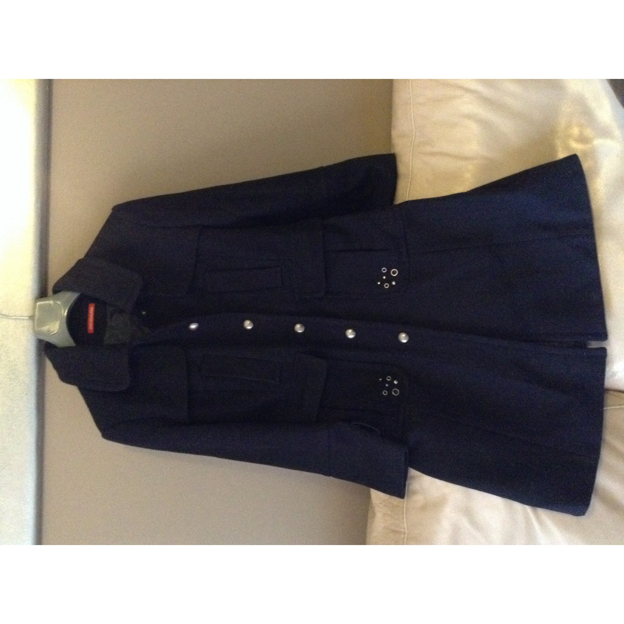 Manteau ALAIN MANOUKIAN Bleu, bleu marine, bleu turquoise