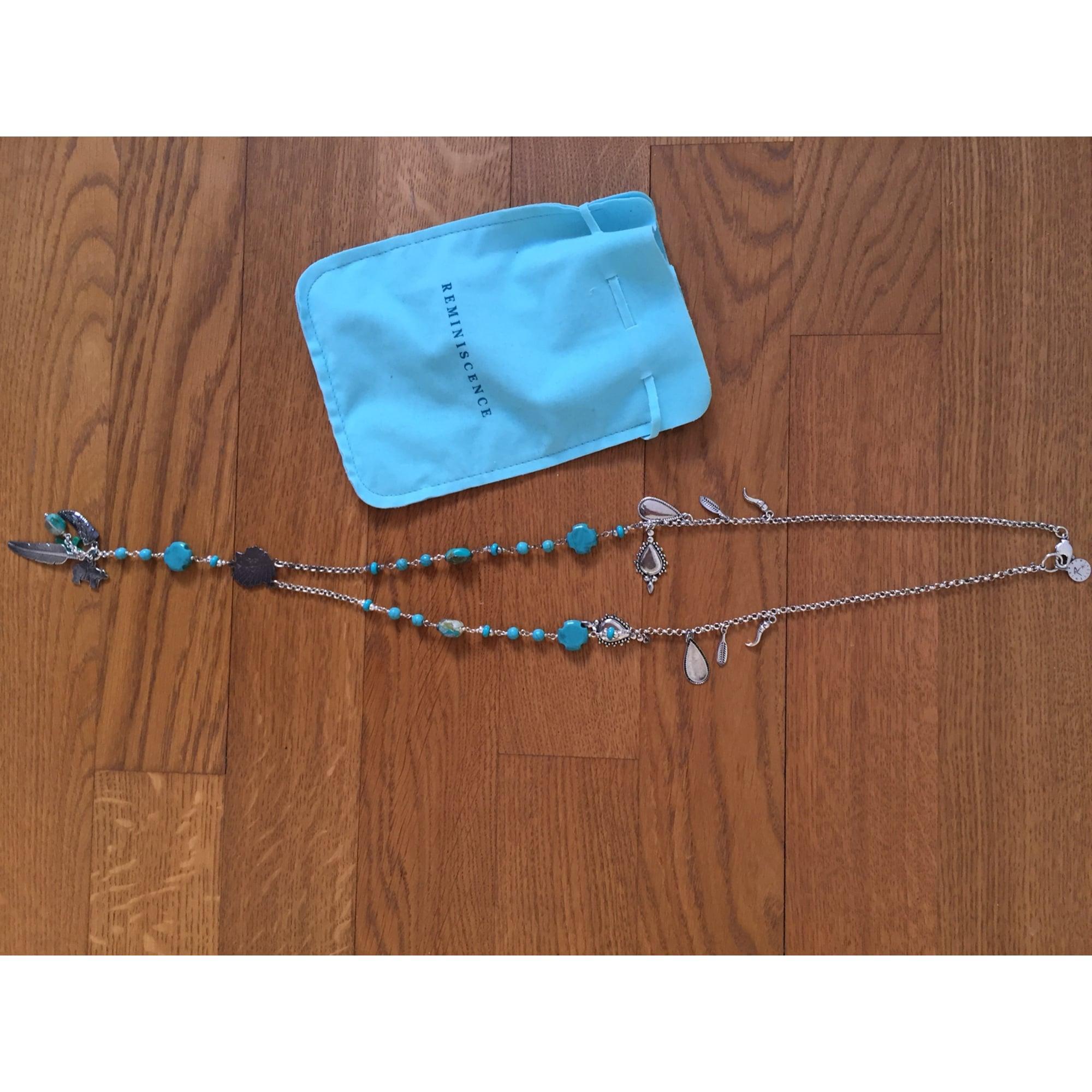 Pendentif, collier pendentif REMINISCENCE Bleu, bleu marine, bleu turquoise